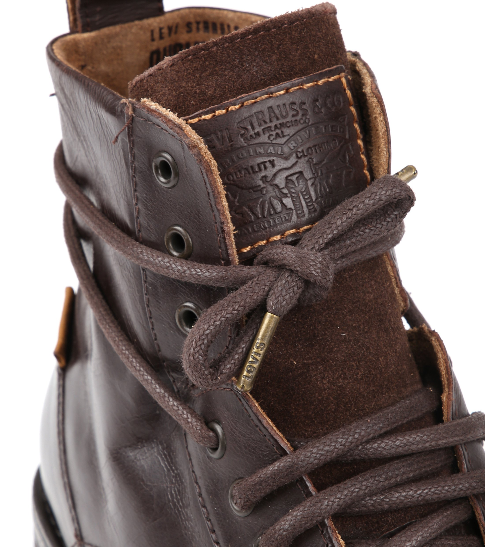 Levi's Boots Emerson Dunkelbraun Leder foto 1