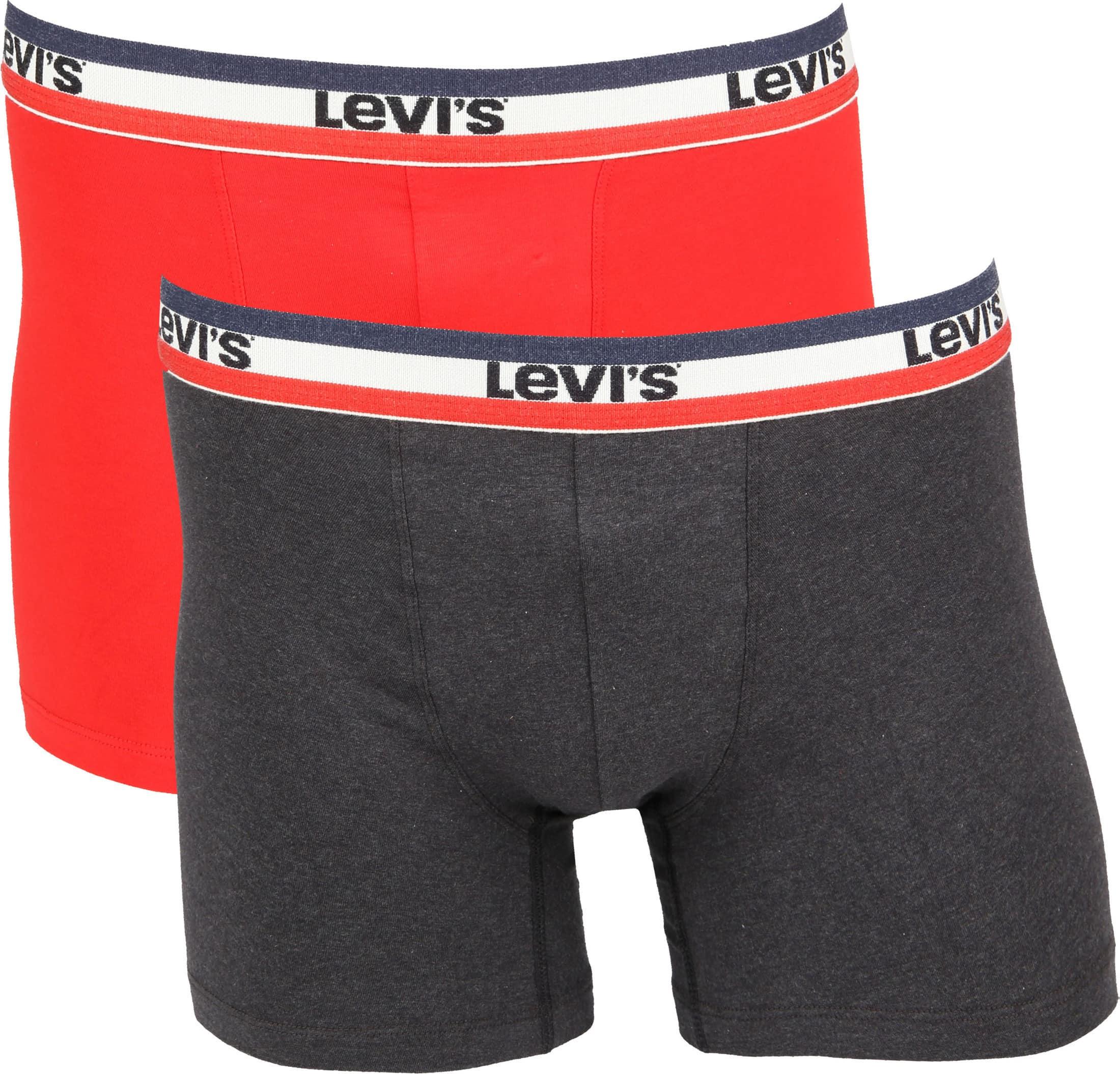Levi's Boxershorts 2-Pack Rood Grijs foto 0