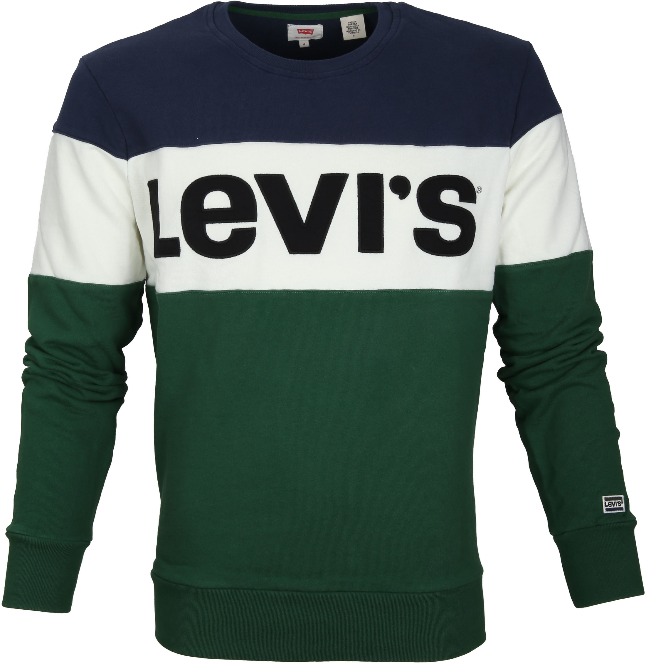 Levi's Colorblock Sweater Green foto 0