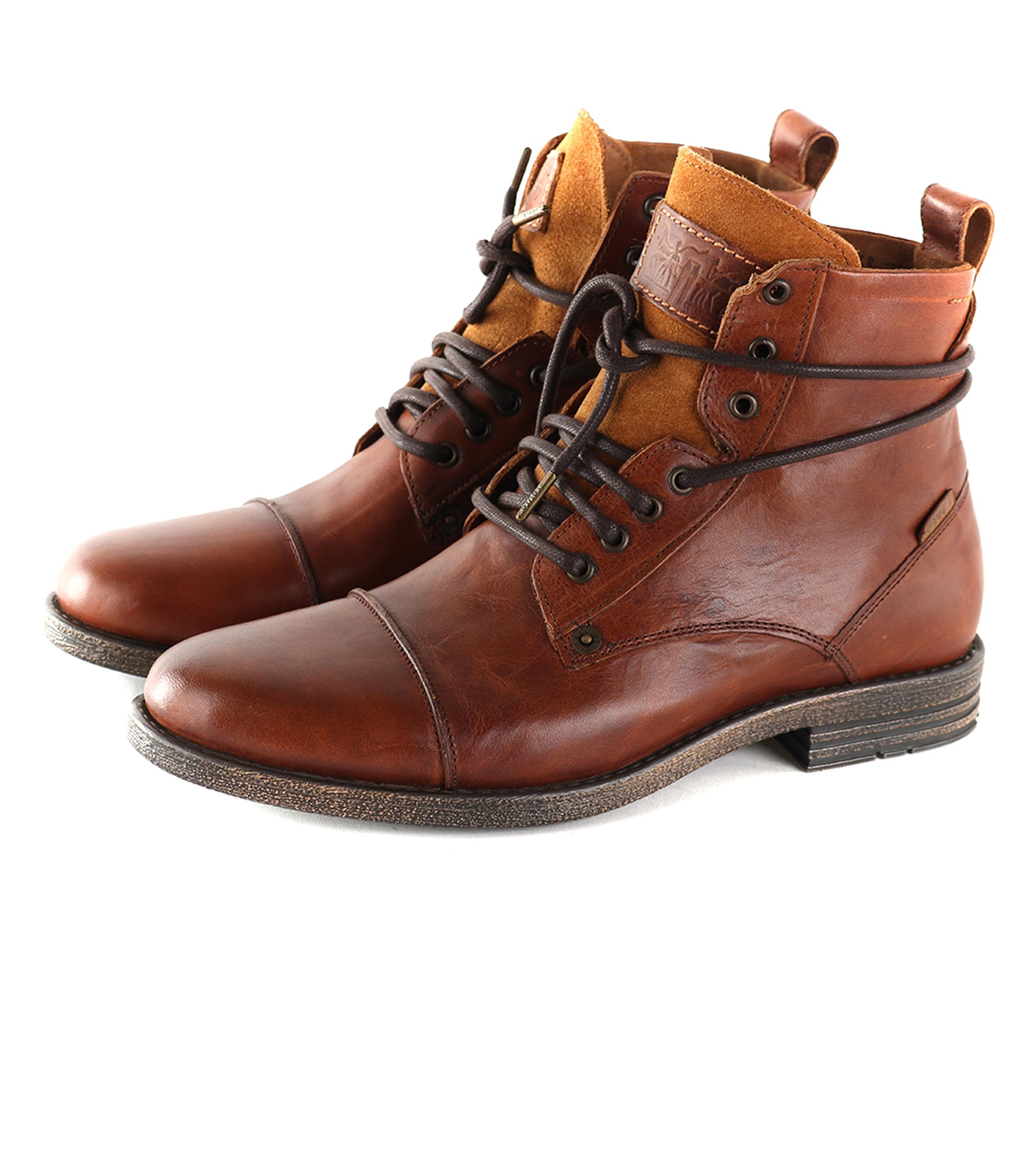 aea2800f615 Levi's Emerson Boots Cognac | Suitable