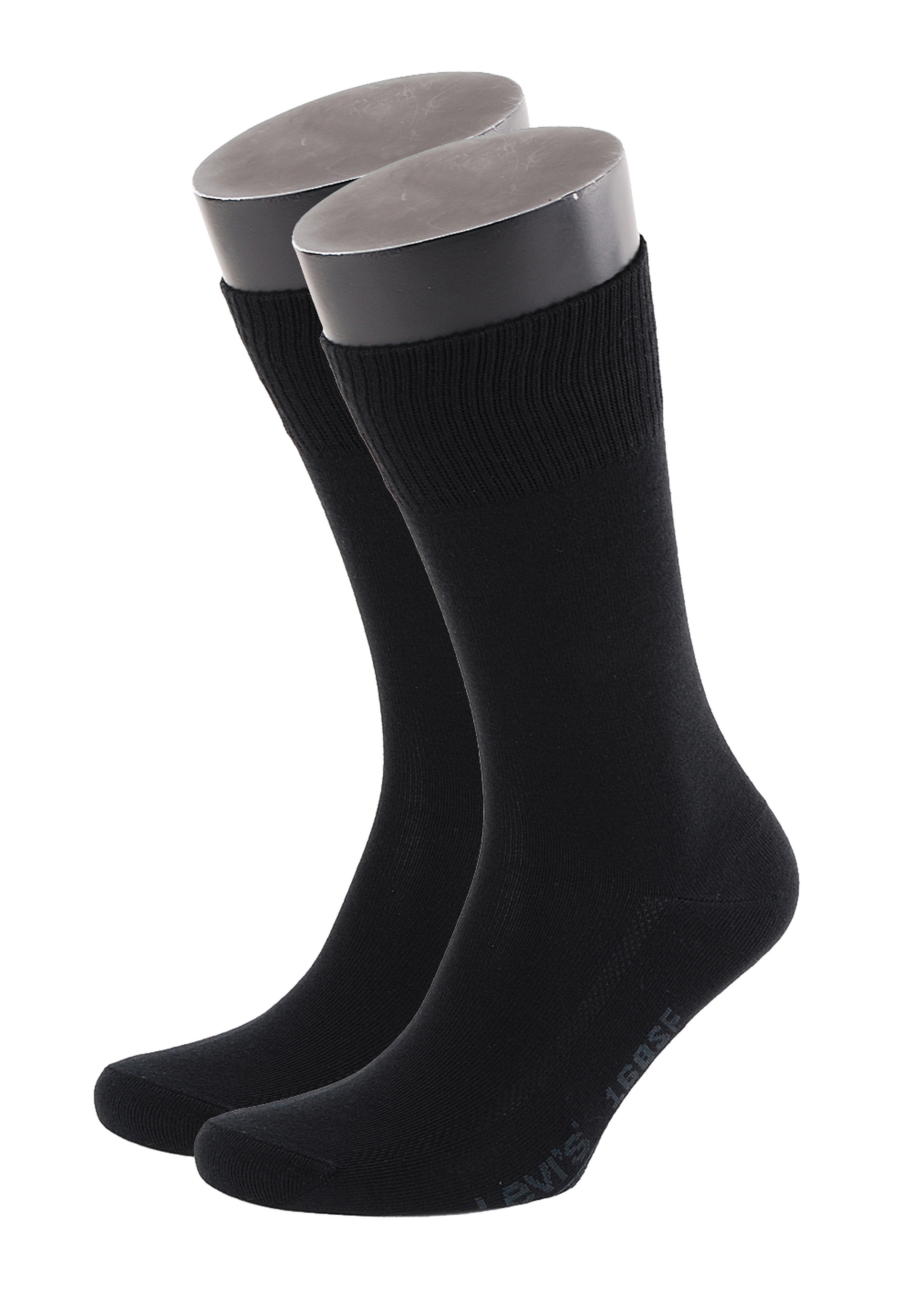 Levi's Socken Baumwolle 2-Pack Schwarz 884