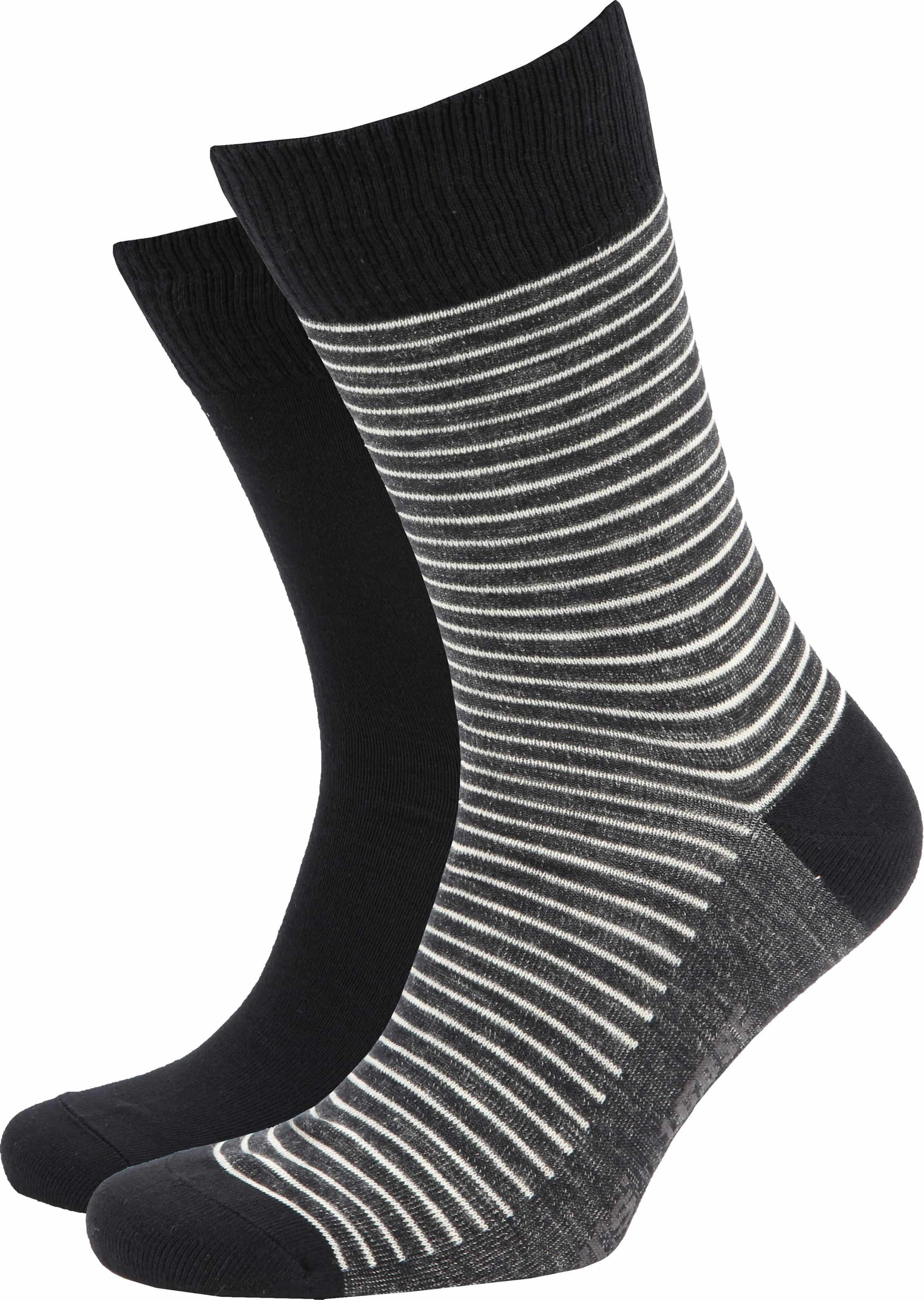 Levi's Socks 2-Pack Black and Dark Grey foto 0