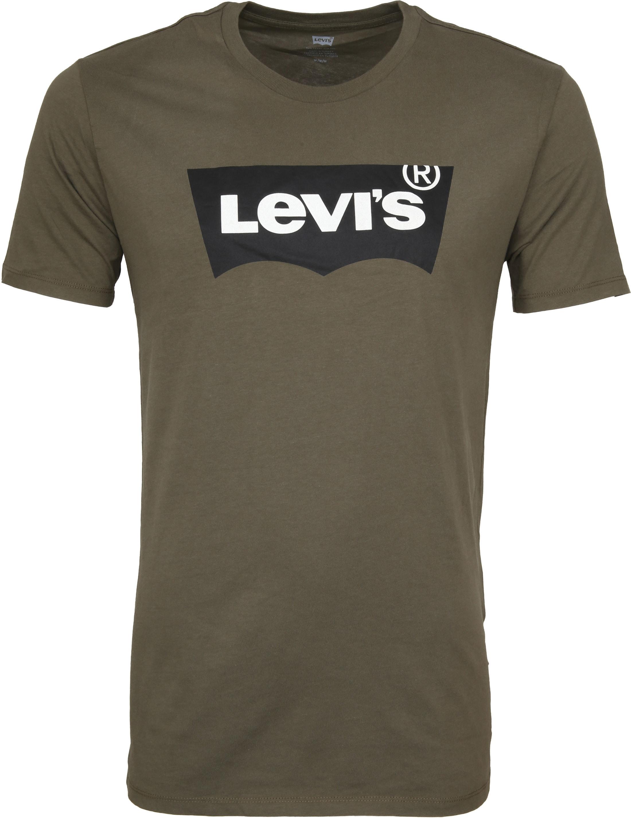 Levi's T-shirt Groen Logo foto 0
