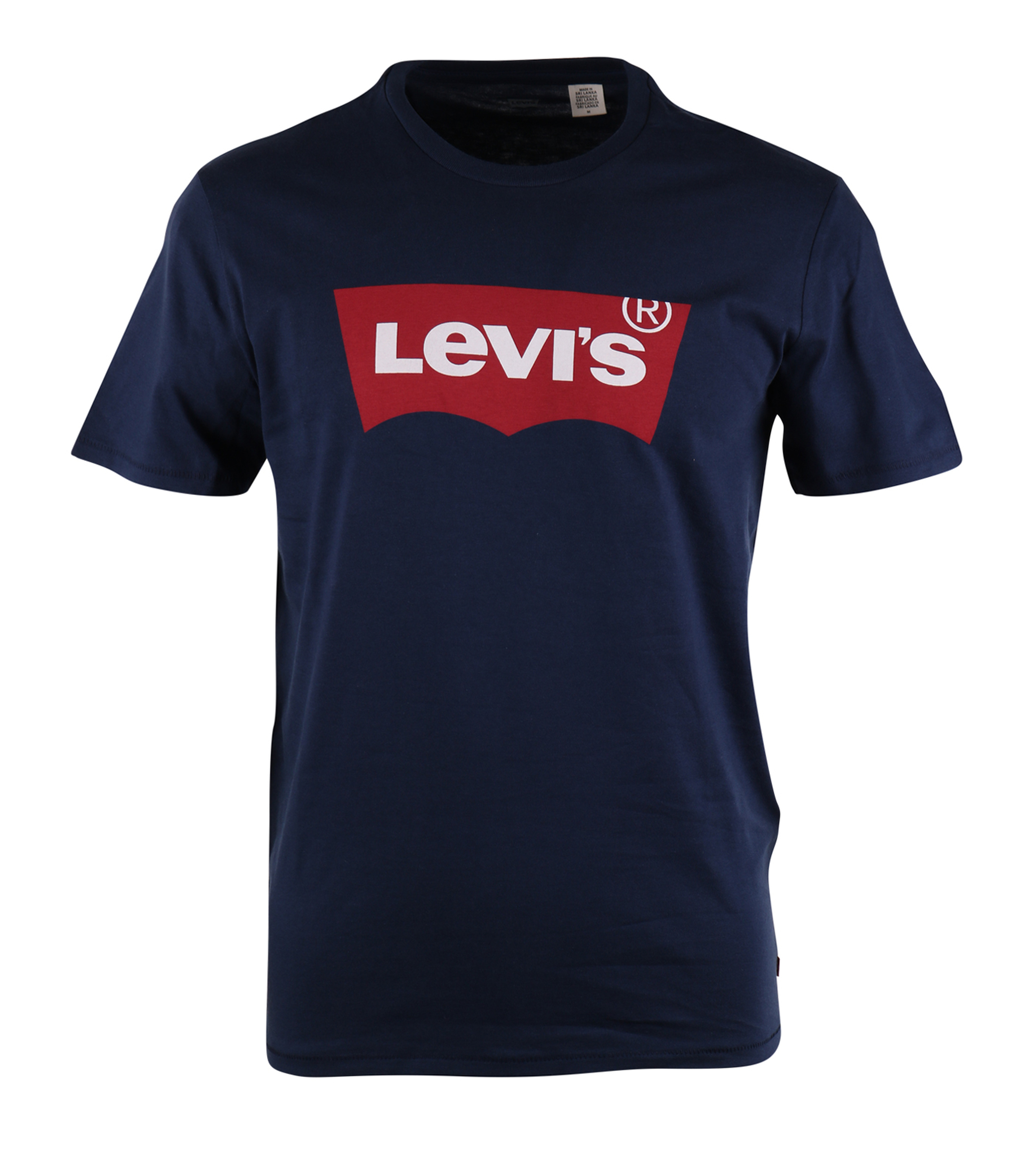 Levi 39 s t shirt logo print blauw for Shirts with logo print