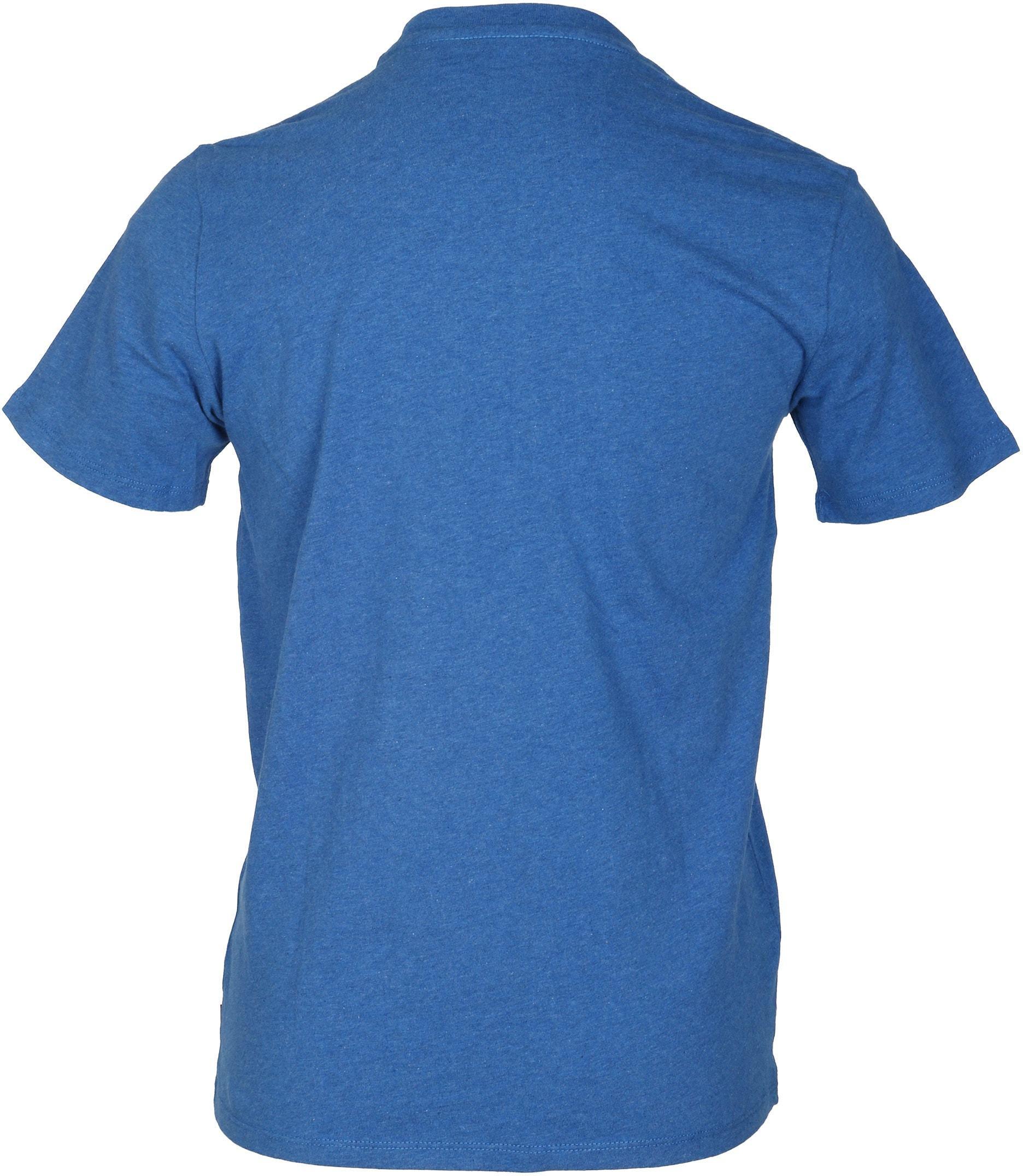 Levi's T-shirt Print Blauw foto 2