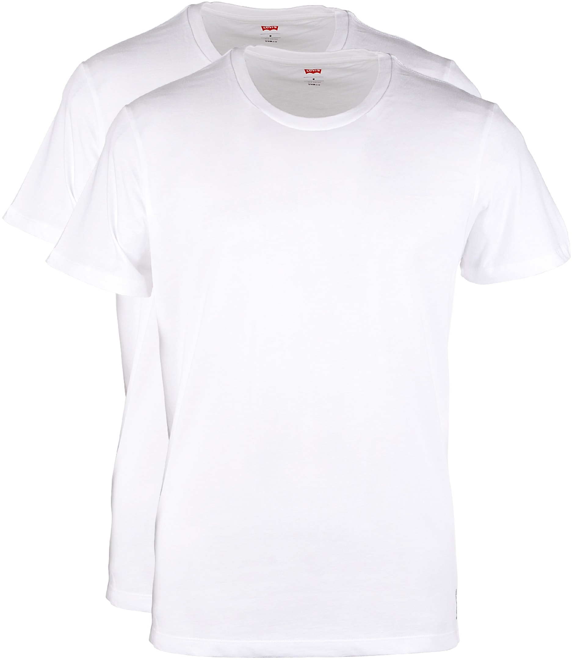 Levi's T-shirt Ronde Hals Wit 2Pack foto 0