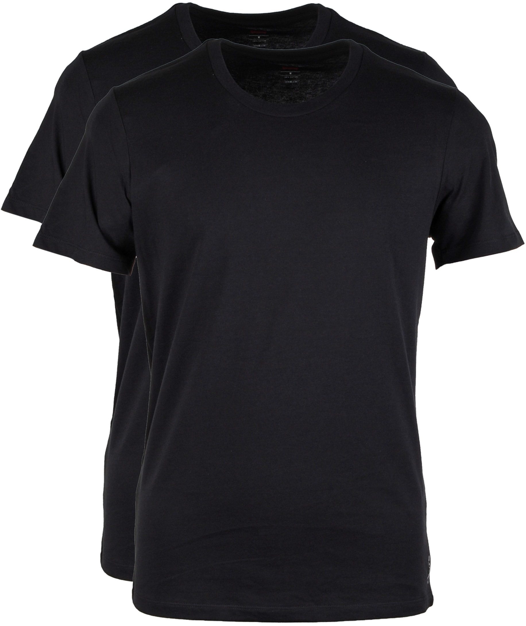 Levi's T-shirt Ronde Hals Zwart 2Pack foto 0