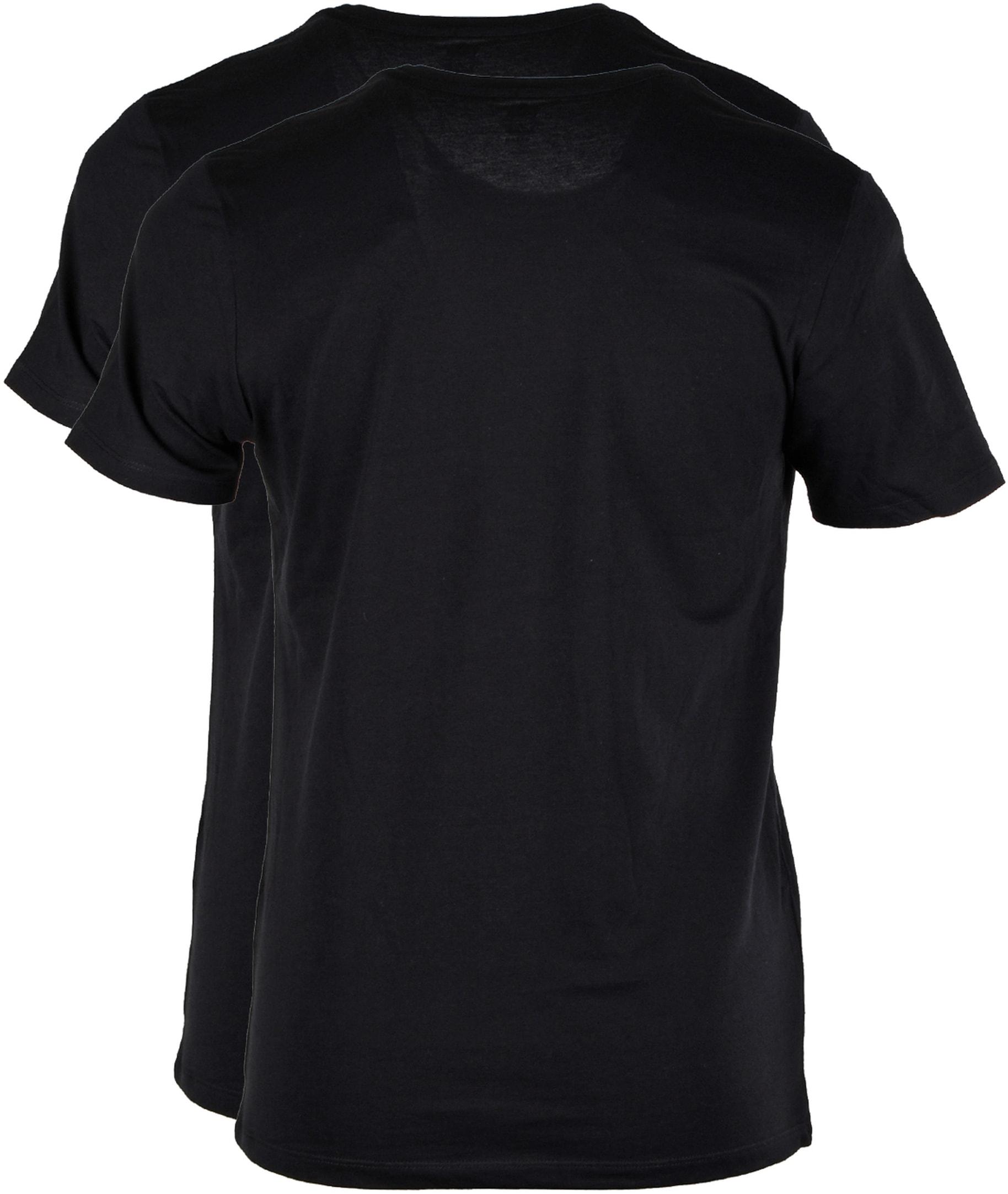 Levi's T-shirt Ronde Hals Zwart 2Pack foto 1