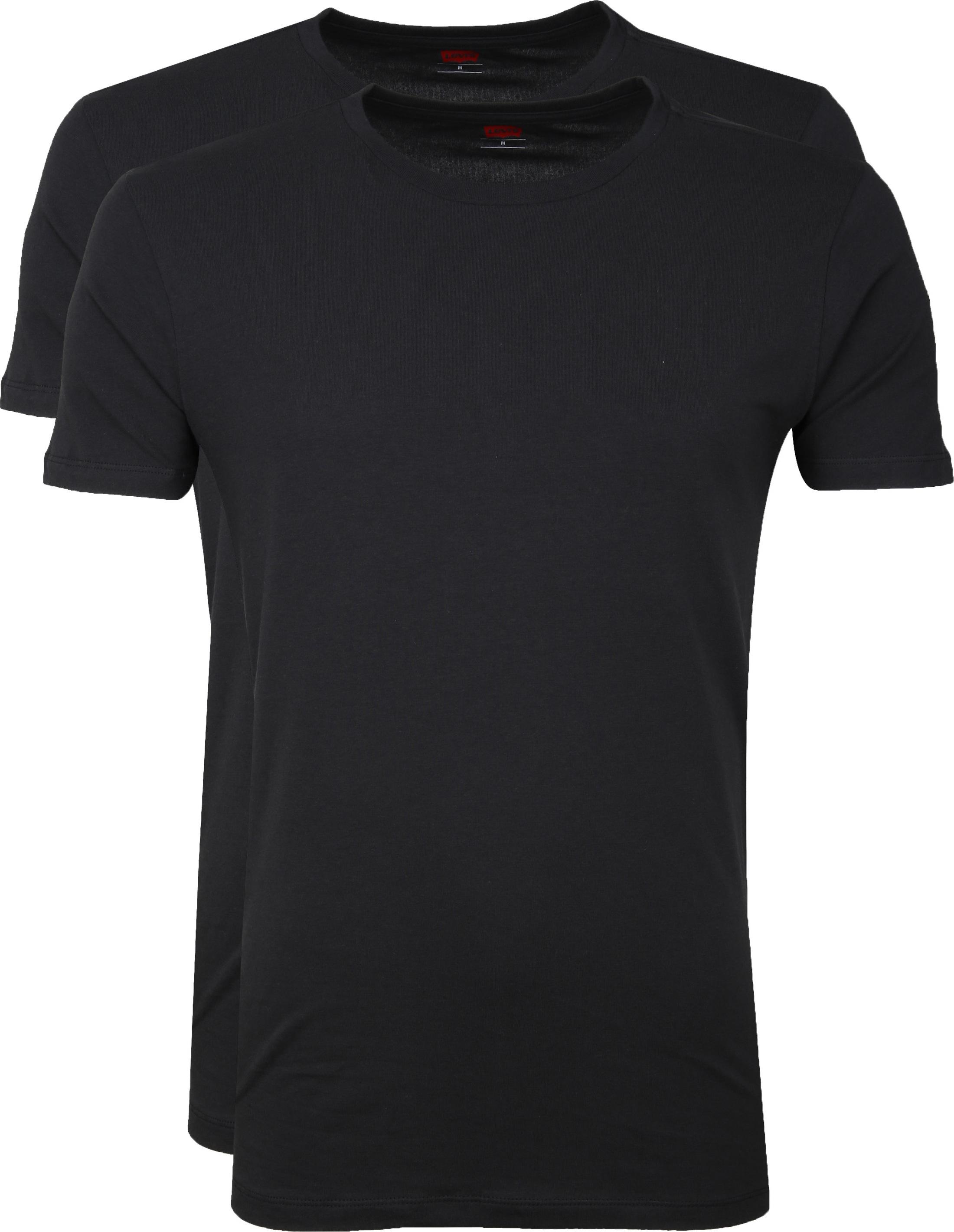 Levi's T-shirt Rund Hals Schwarz 2Pack