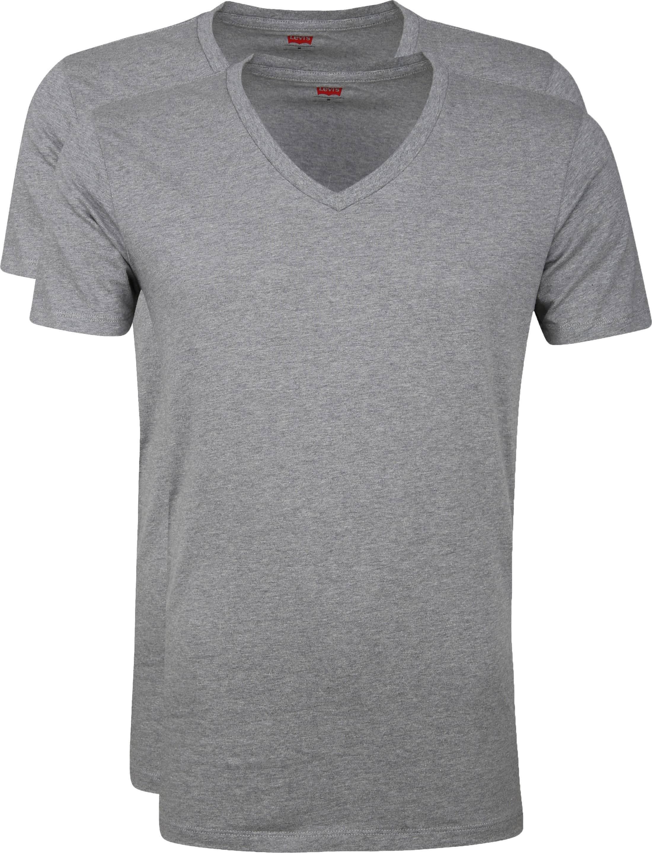 Levi's T-Shirt V-Ausschnit Grau 2-Pack