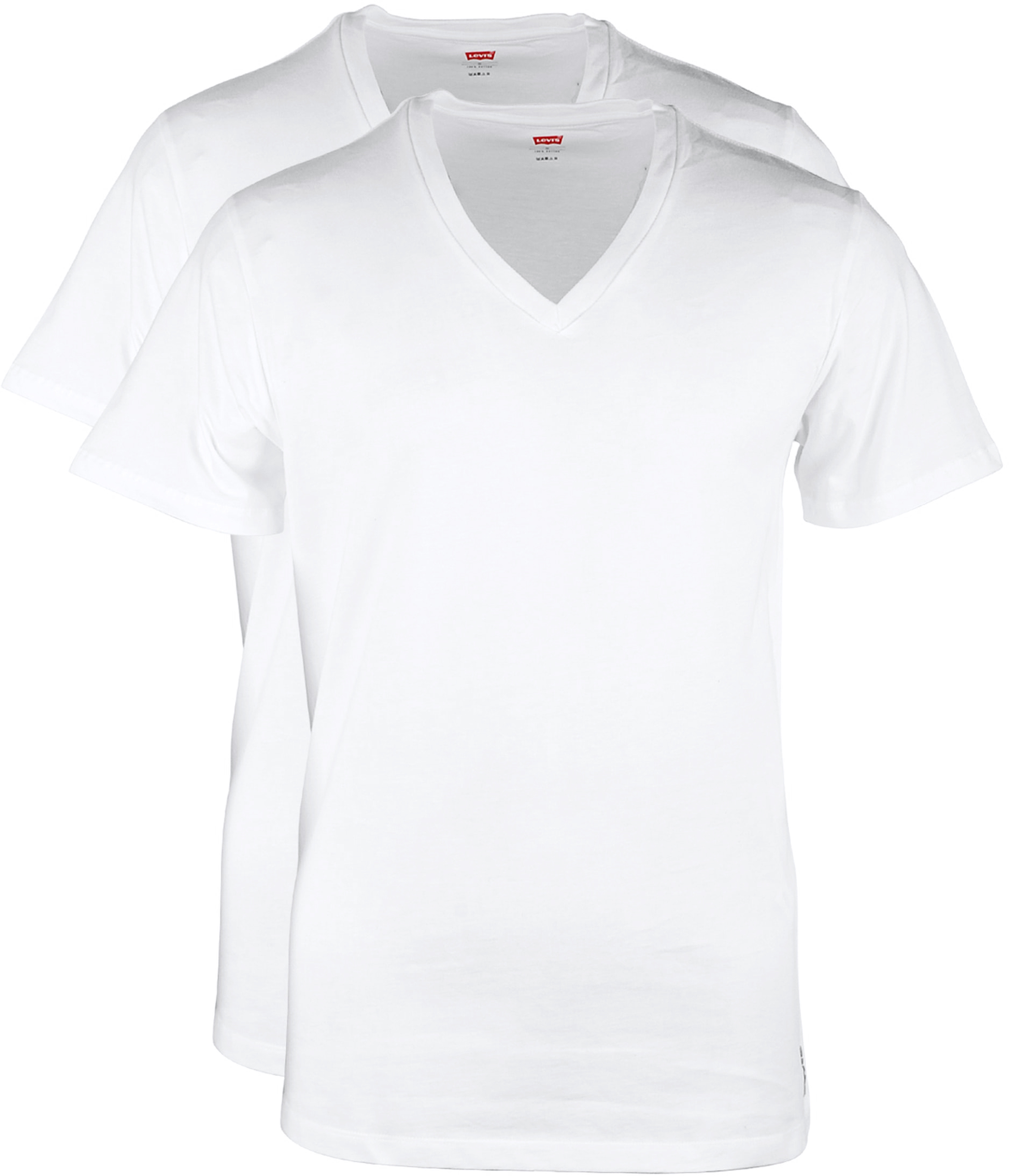 Levi's T-shirt V-Hals Wit 2Pack foto 0