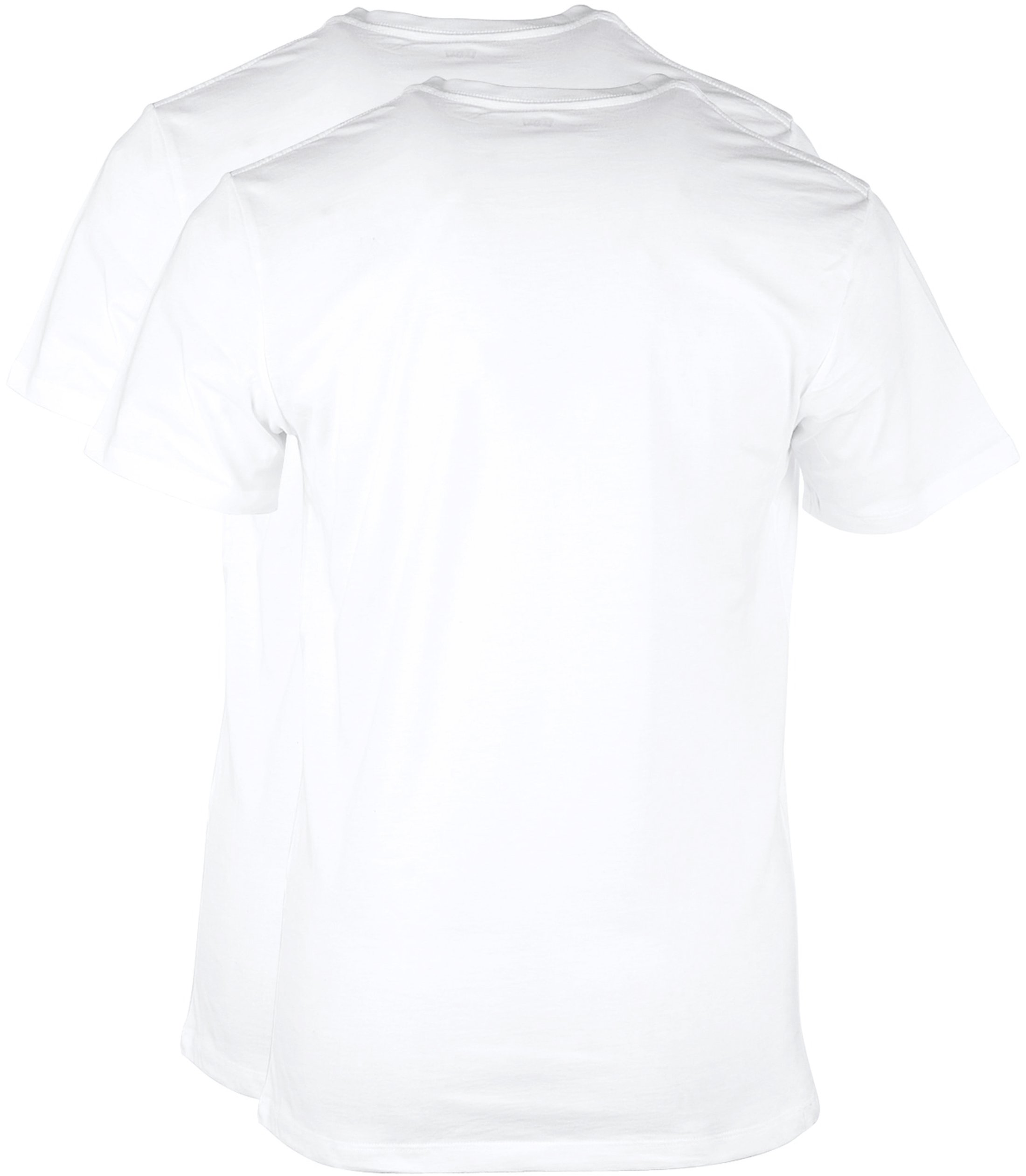 Levi's T-shirt V-Hals Wit 2Pack foto 2