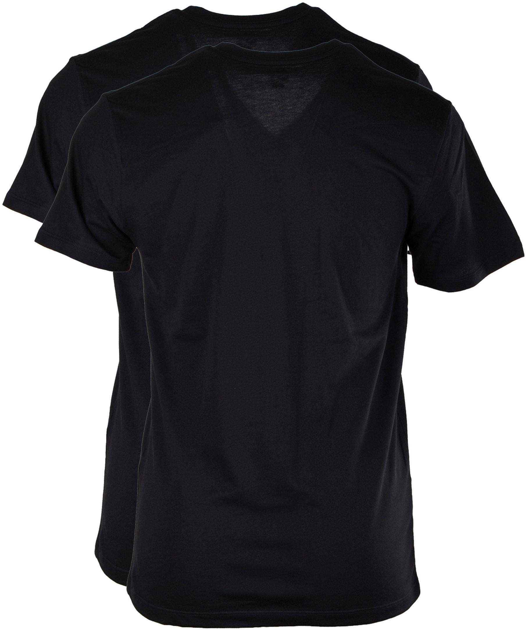 Levi's T-shirt V-Hals Zwart 2Pack foto 1