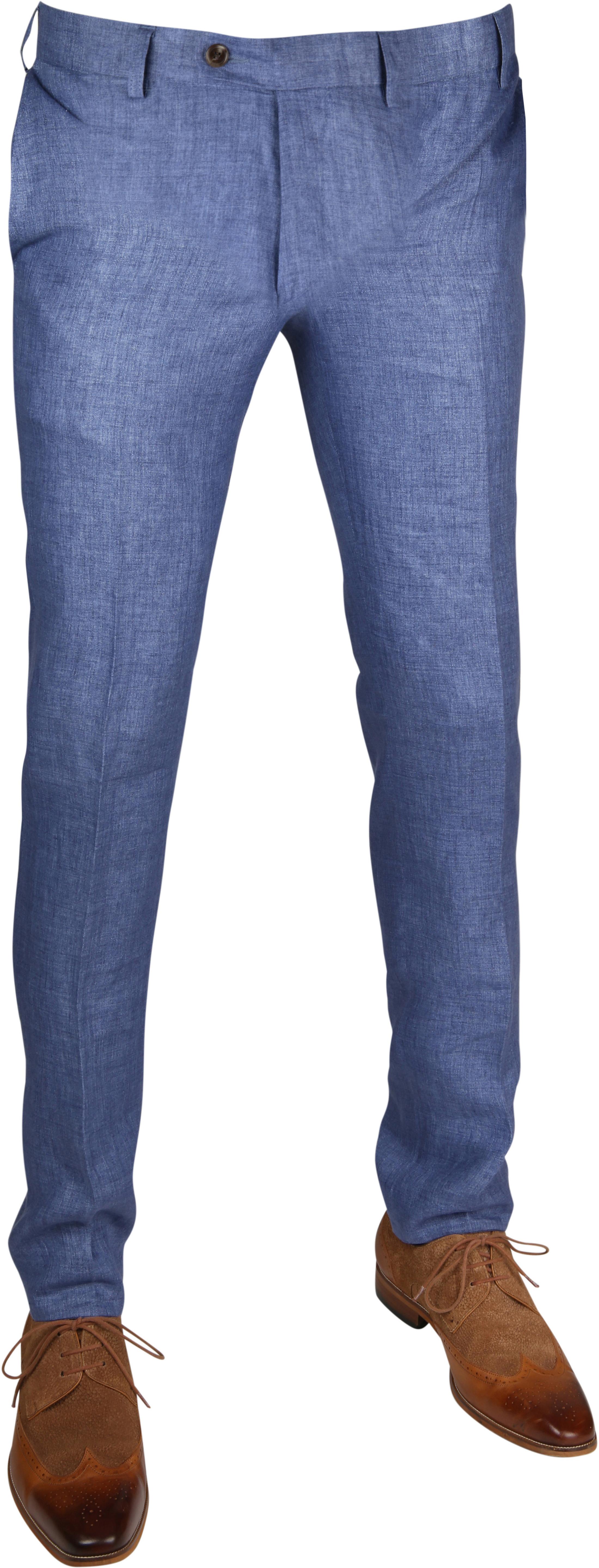 Linnen Pantalon Blauw foto 0