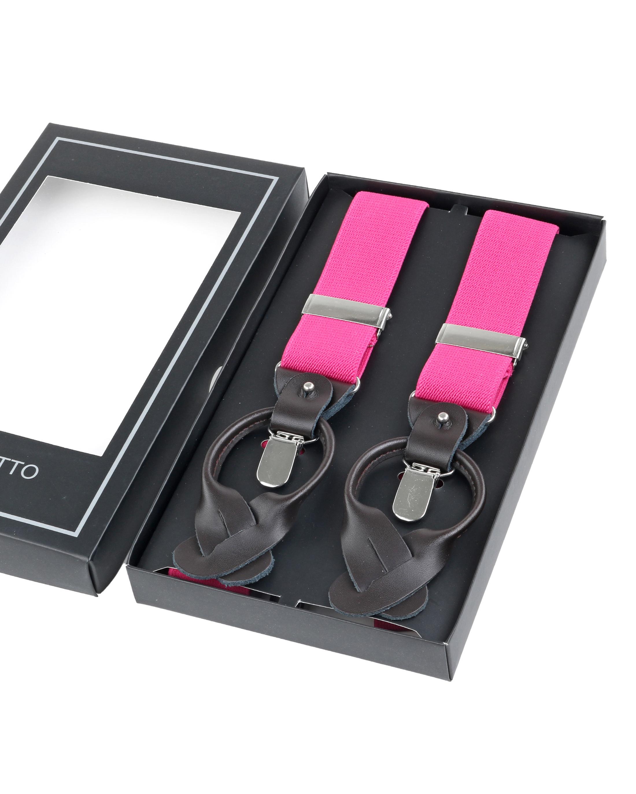 Luxus Hosenträger Pink foto 2