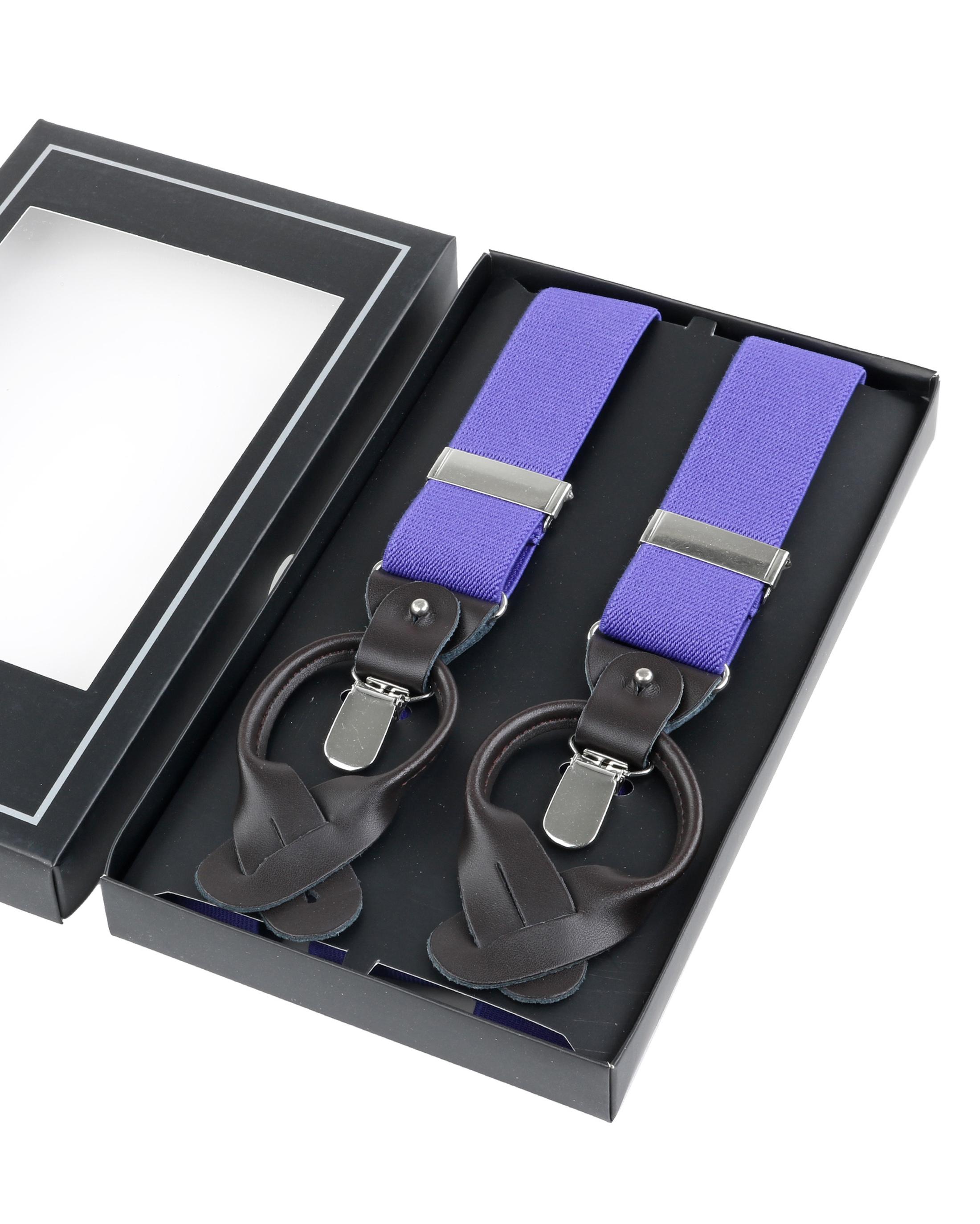 Luxus Hosenträger Violett foto 2