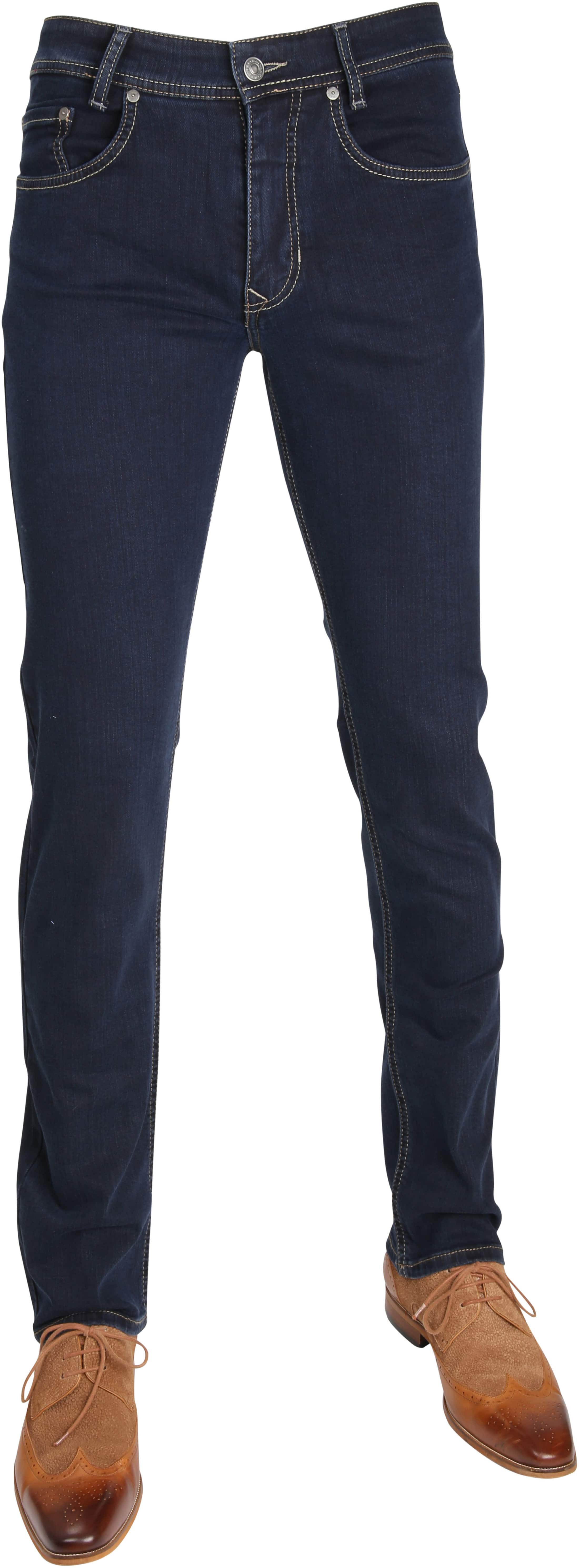 Mac Broek Arne Stretch Blue Black H799 foto 0