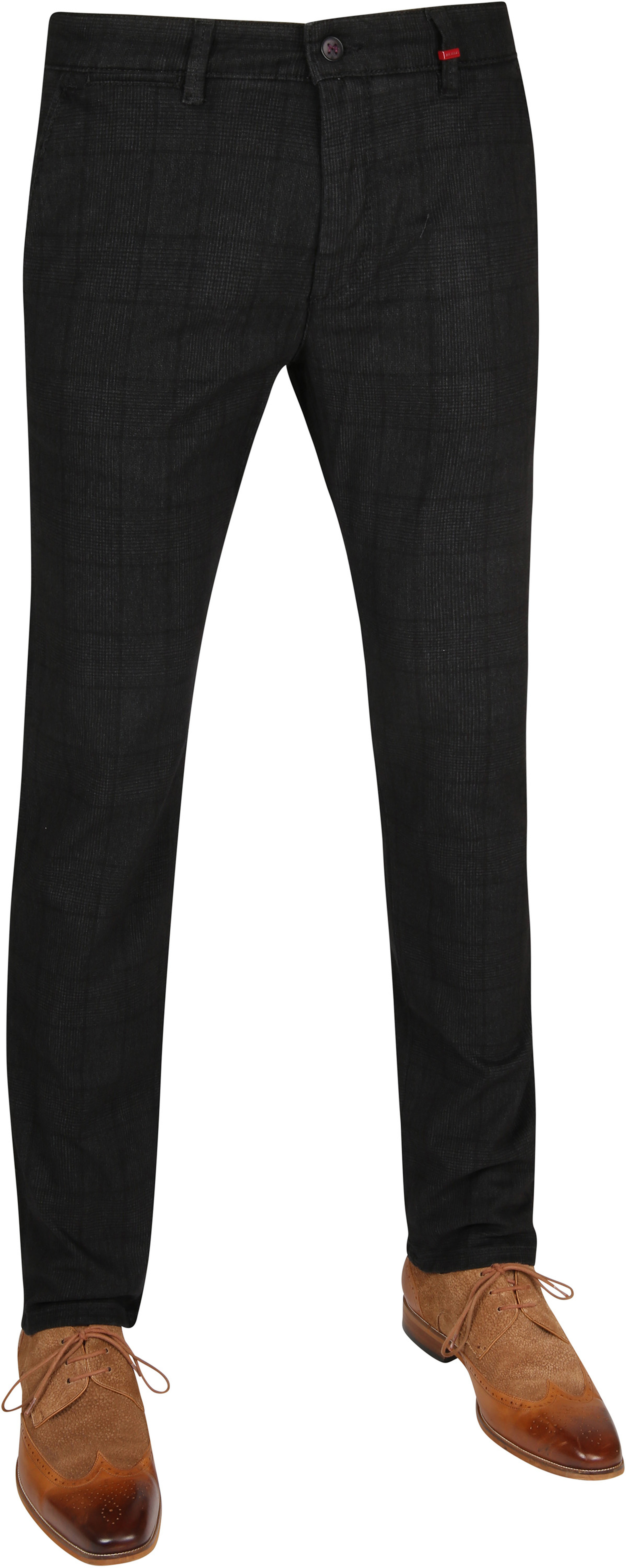 Mac Broek Lennox Dark Grey Pane photo 0