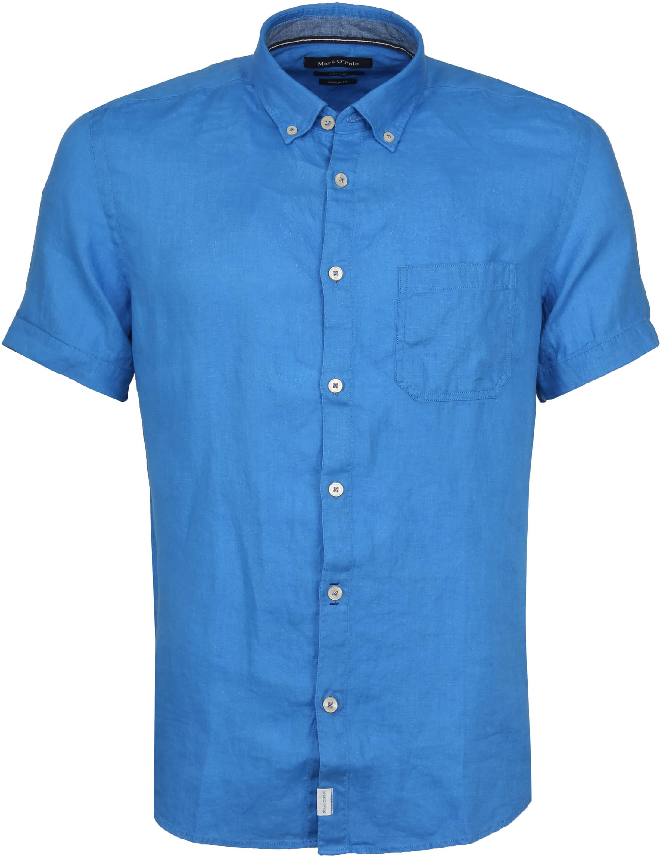 Marc O'Polo Casual Overhemd SS Victoria Blue foto 0