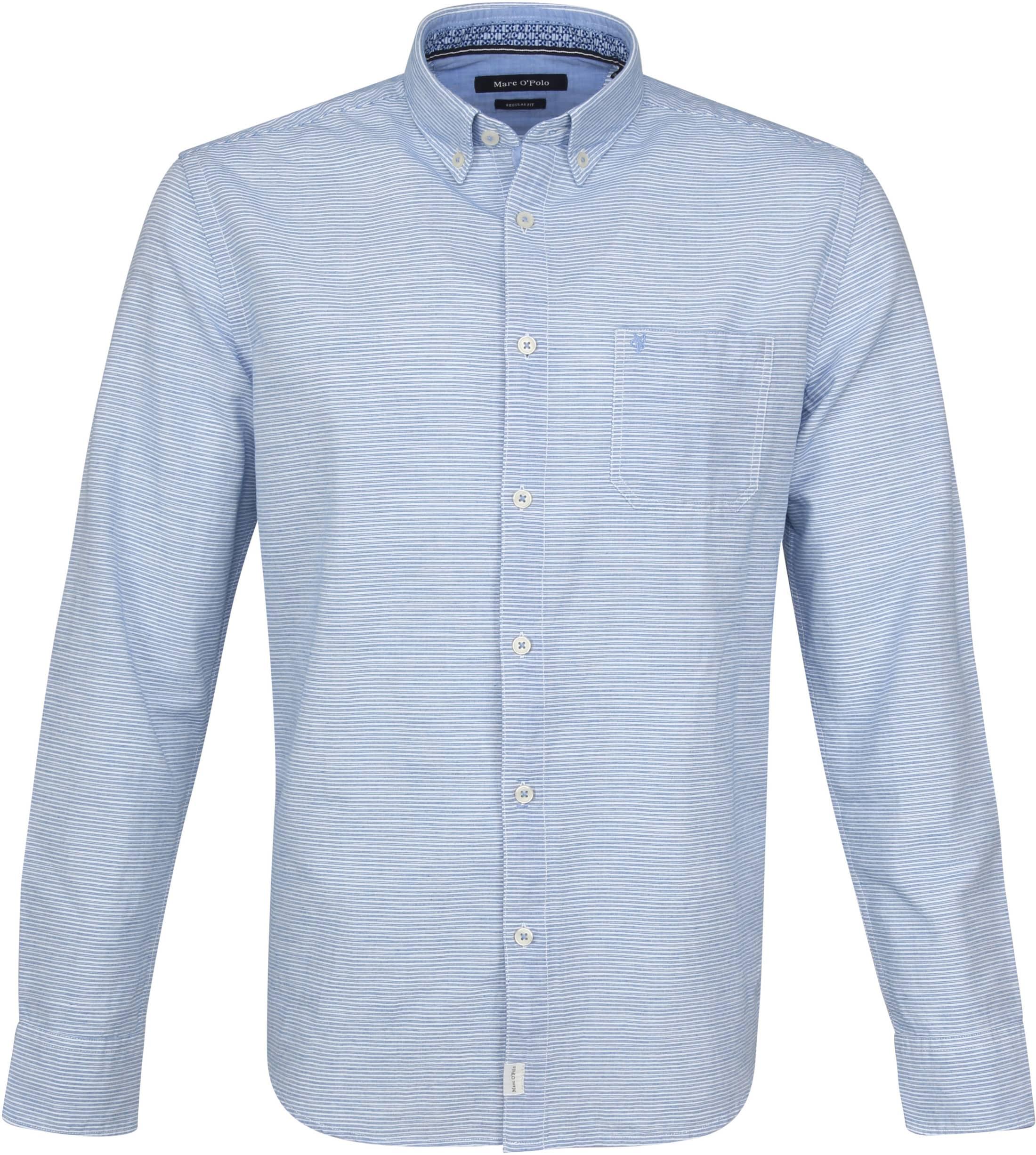 Marc O'Polo Hemd Casual streifen Blau 923733742338 online