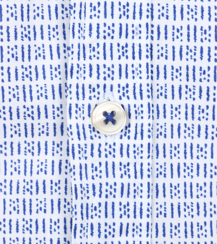 Marc O'Polo Korte Mouw Overhemd Wit Blauw foto 1