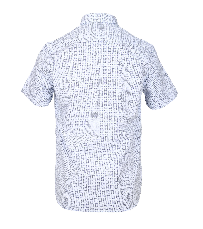 Marc O'Polo Korte Mouw Overhemd Wit Blauw foto 3