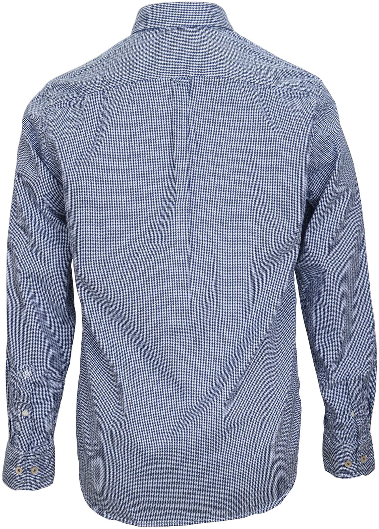 Marc O'Polo Overhemd Dessin Navy foto 2