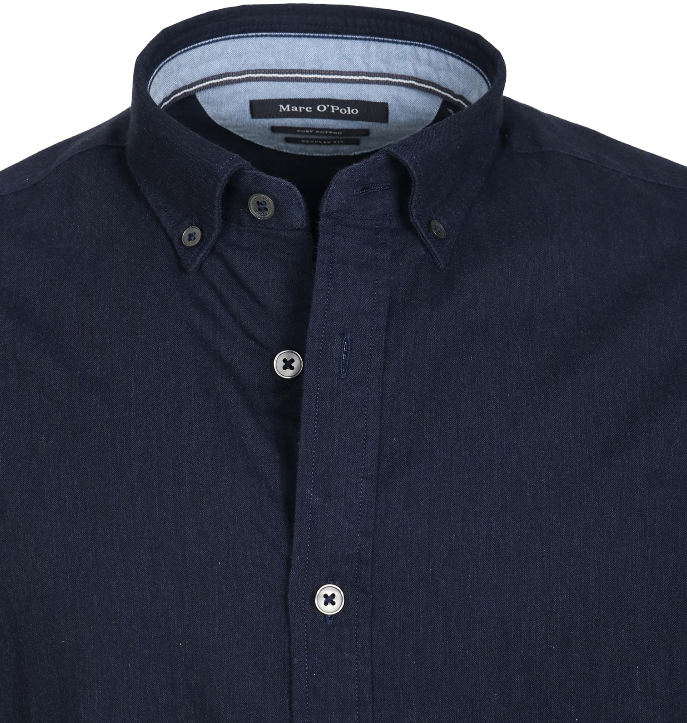 Marc O'Polo Overhemd Navy foto 2