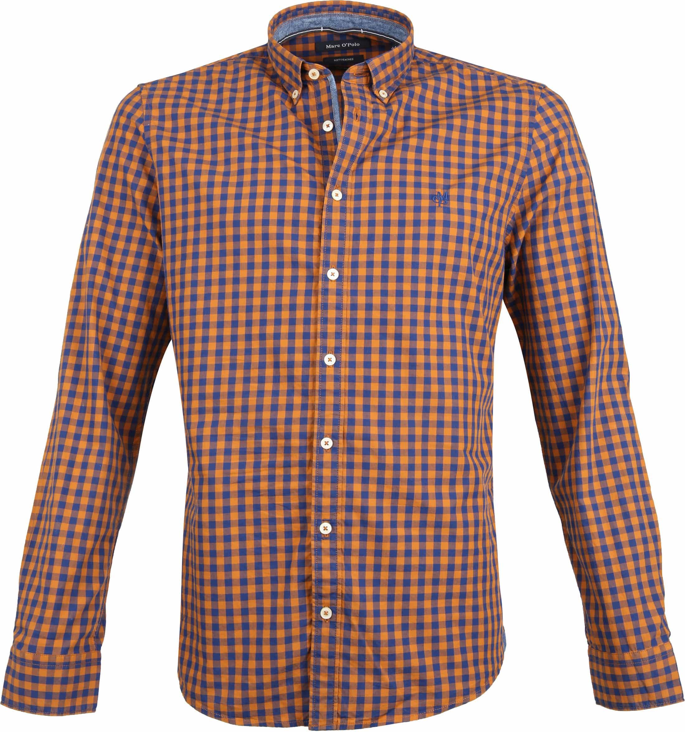 Marc O'Polo Overhemd Ruiten Oranje foto 0