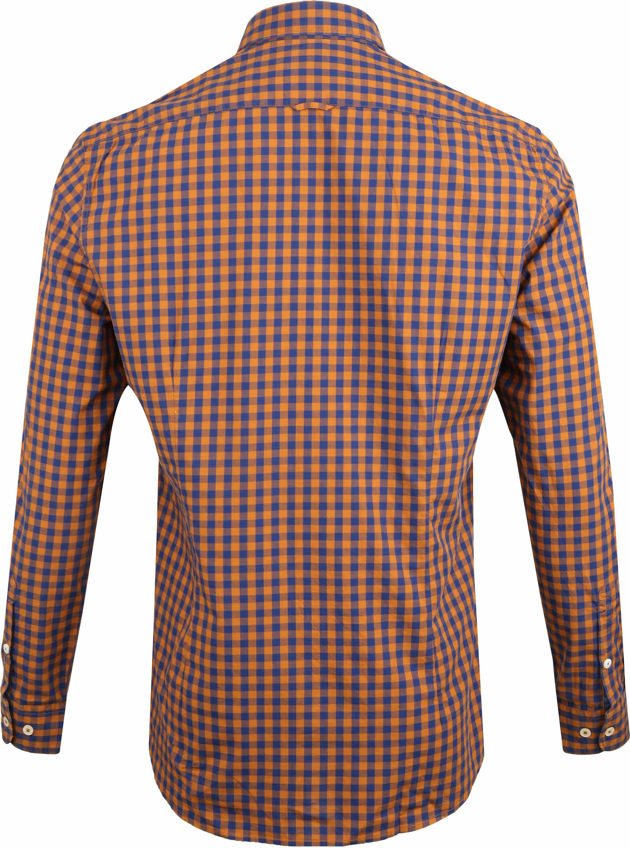 Marc O'Polo Overhemd Ruiten Oranje foto 3