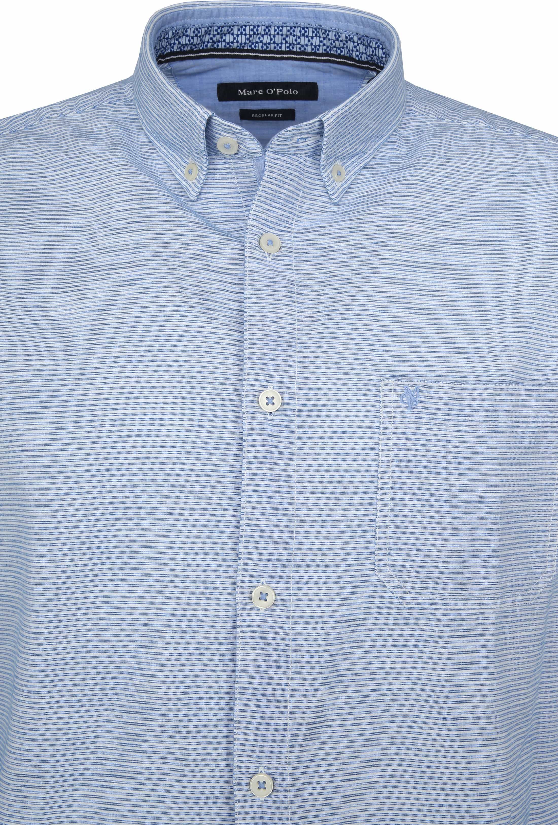 Marc O'Polo Overhemd Strepen Blauw foto 2