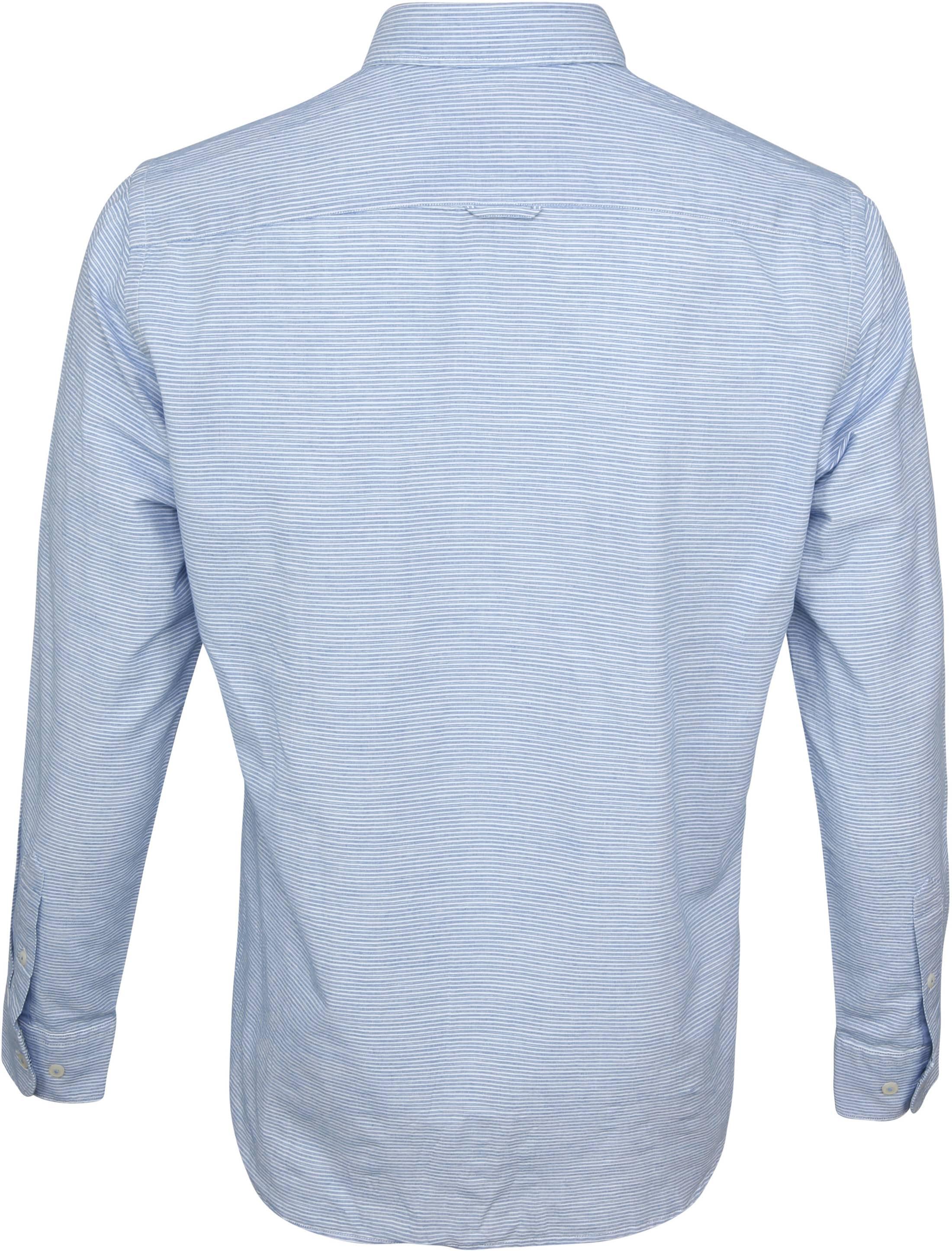 Marc O'Polo Overhemd Strepen Blauw foto 3