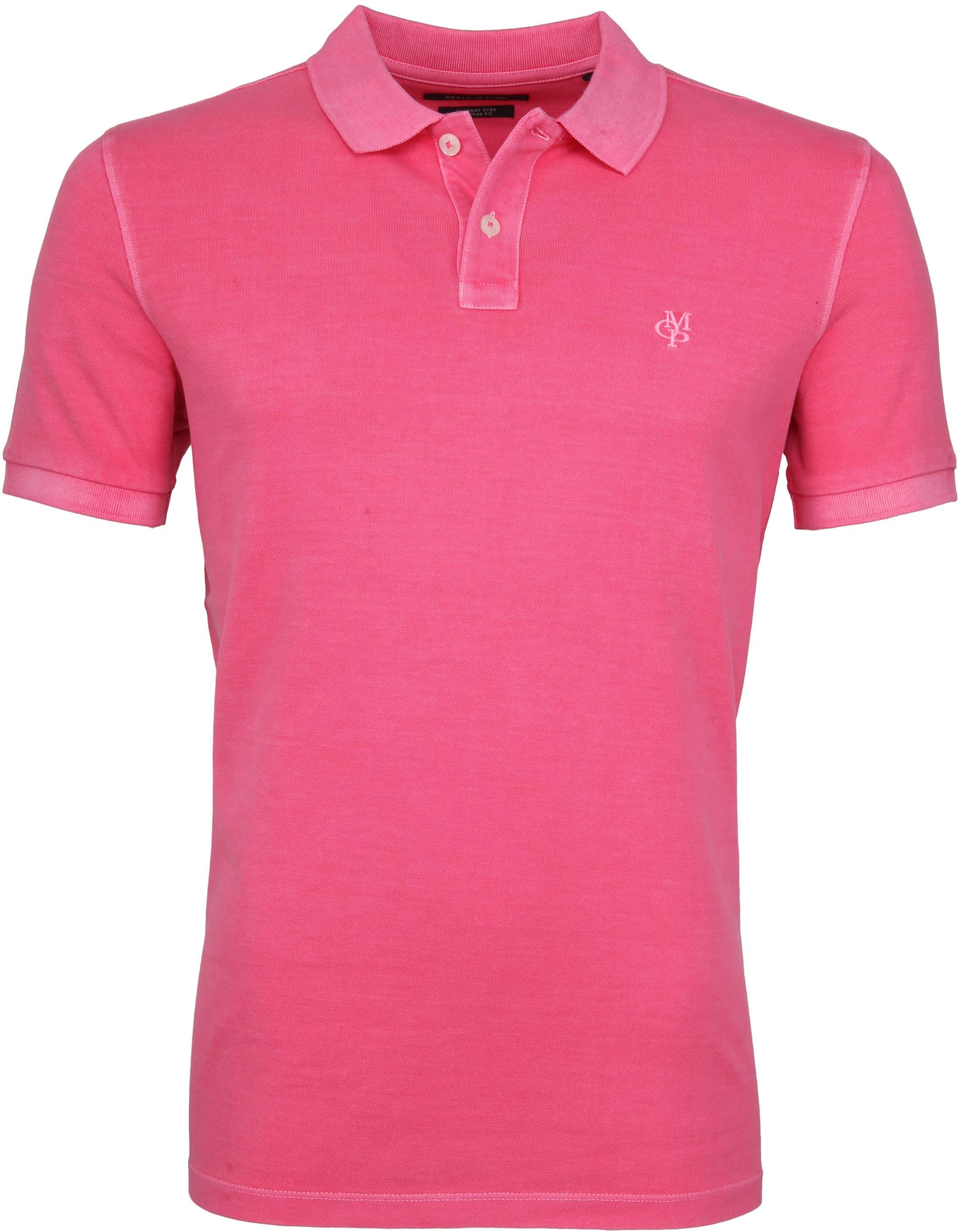 Marc O'Polo Poloshirt Garment Dyed Ibis Pink foto 0