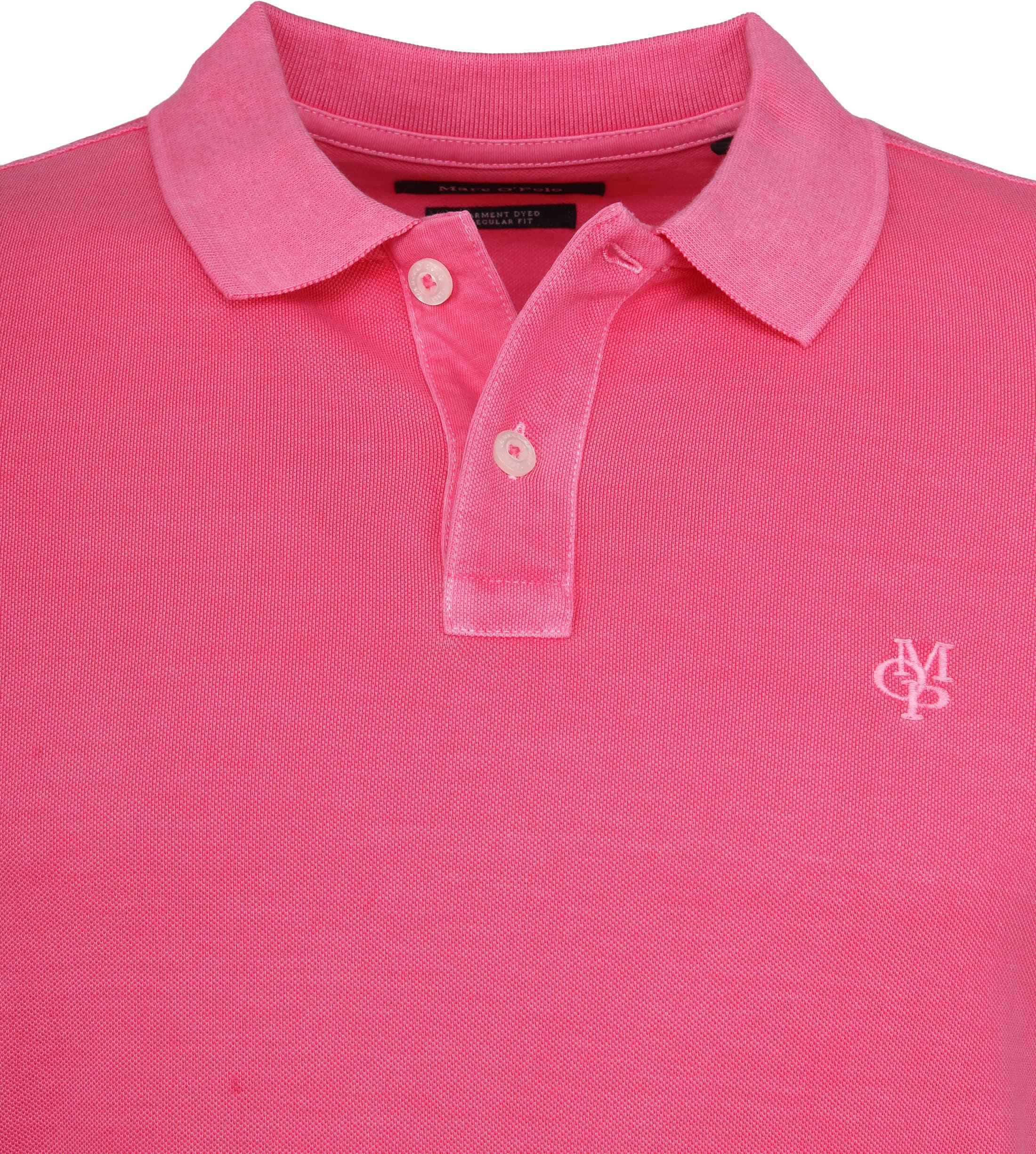 Marc O'Polo Poloshirt Garment Dyed Ibis Pink foto 1