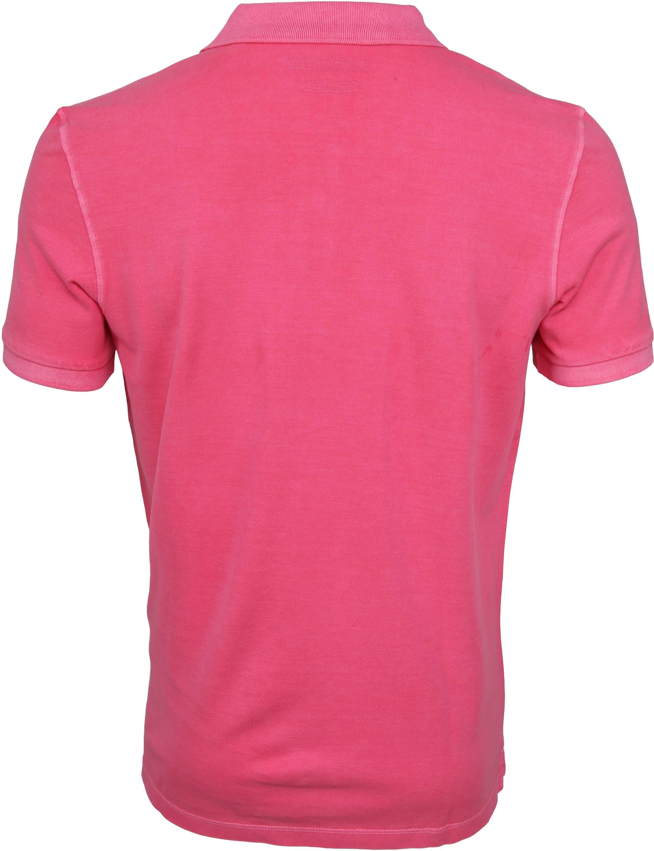 Marc O'Polo Poloshirt Garment Dyed Ibis Pink foto 3