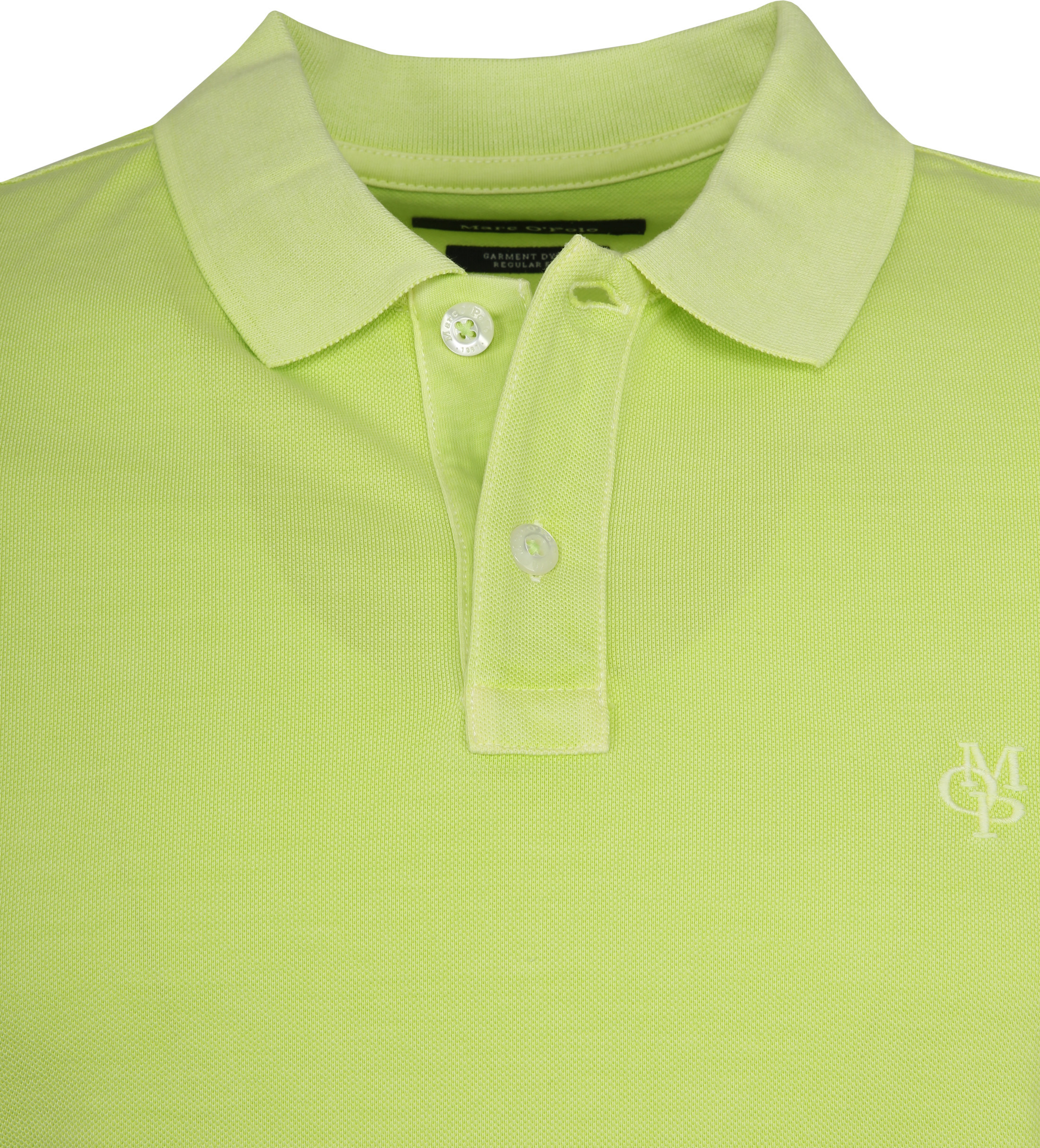 Marc O'Polo Poloshirt Garment Dyed Sharp Green foto 1