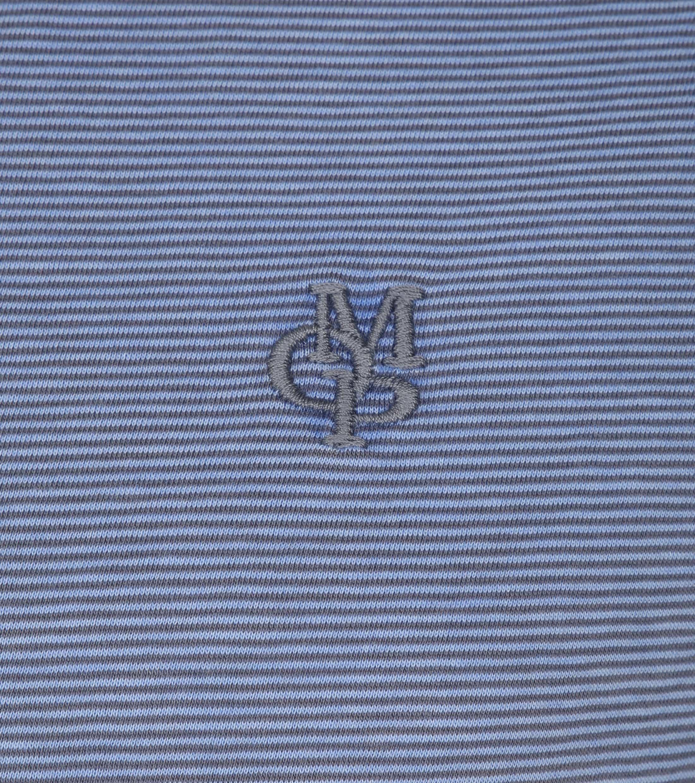 Marc O'Polo Poloshirt Rib Detail Blau foto 1