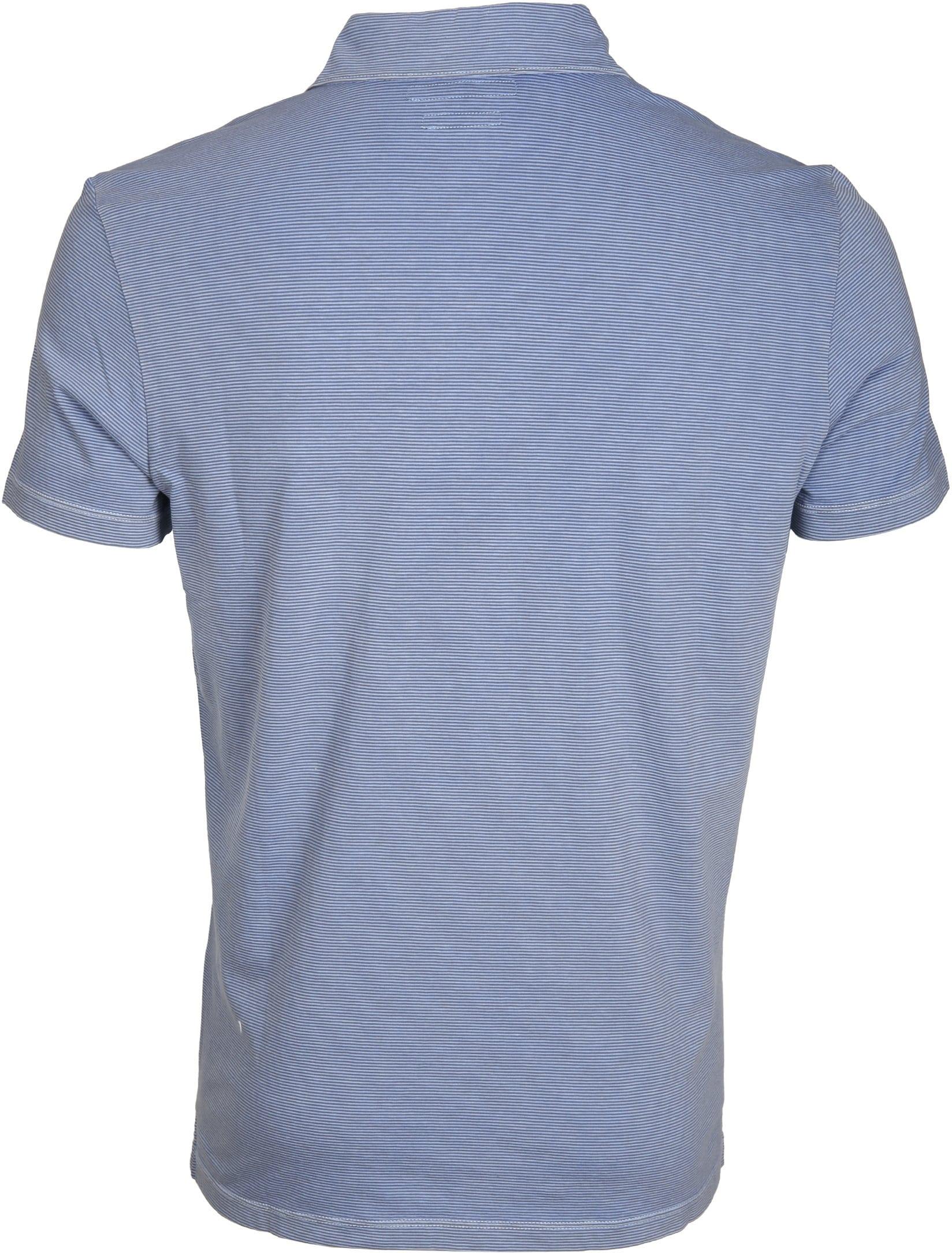 Marc O'Polo Poloshirt Rib Detail Blau foto 2