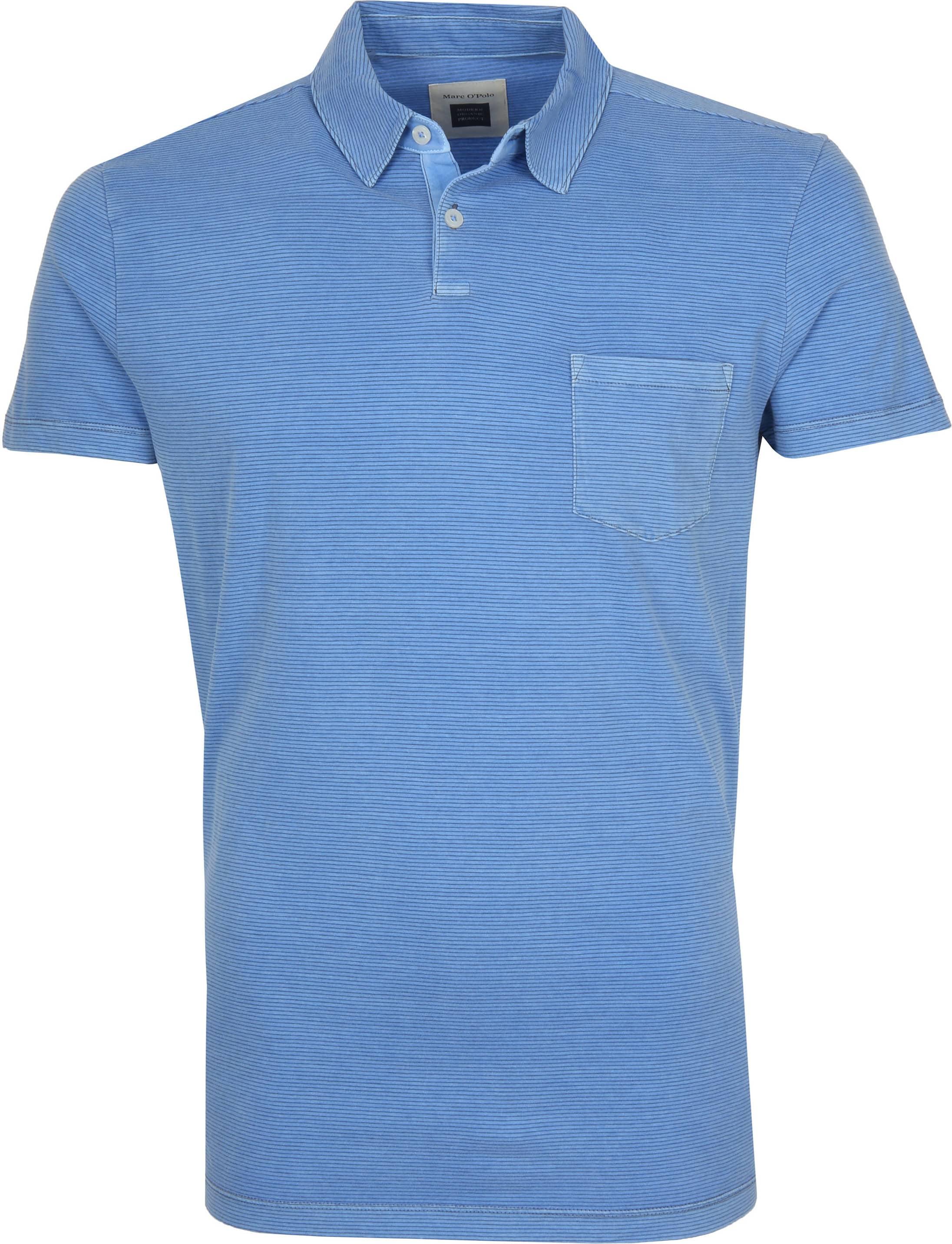 Marc O'Polo Poloshirt Riviera Blauw