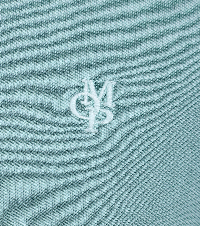 Marc O'Polo Poloshirt Uni Groen foto 1