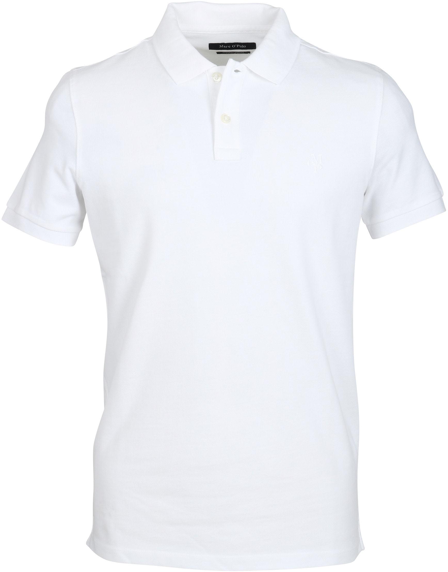 Marc O'Polo Poloshirt Uni Wit foto 0