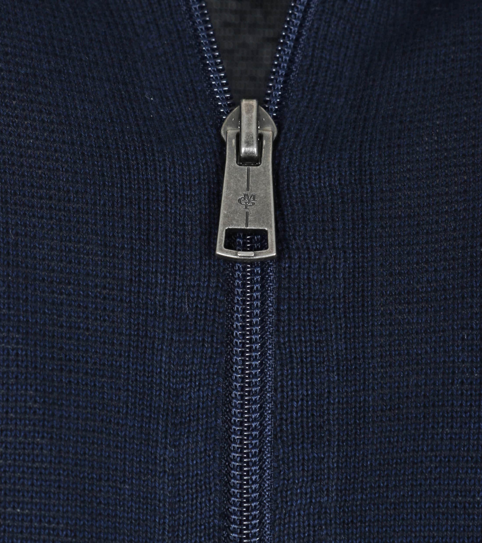 Marc O'Polo Strickjacke Reißverschluss dunkelblau  foto 2