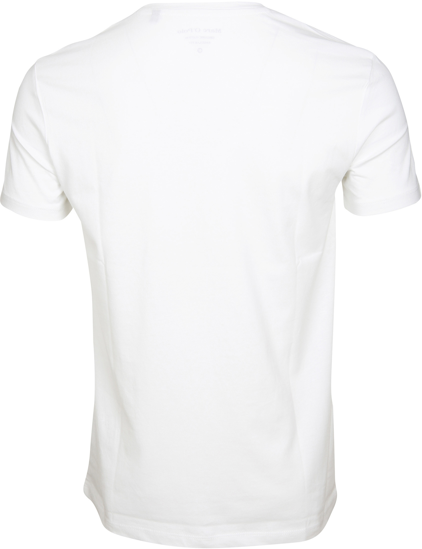 Marc O'Polo T-shirt Logo Wit foto 2