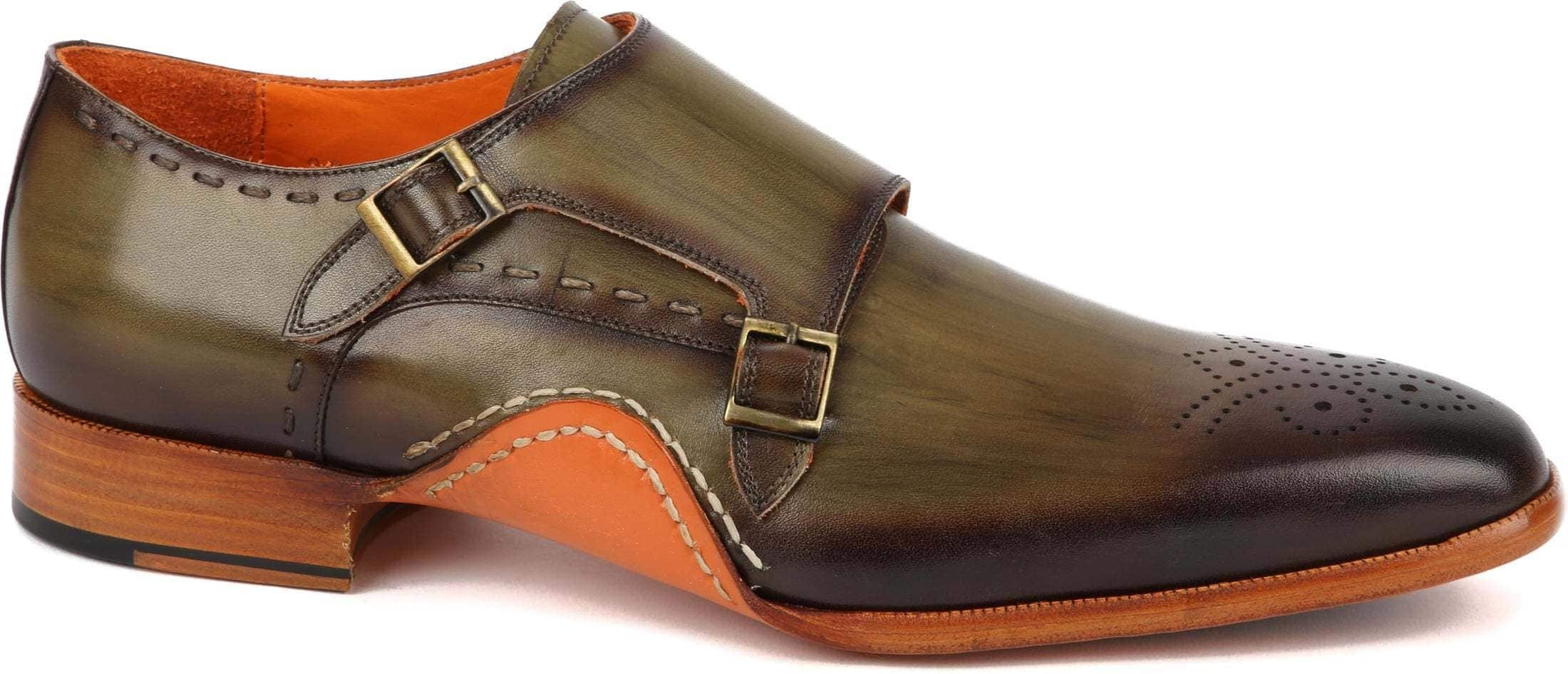 Melik Double Monk Strap Shoe Drago Green foto 0
