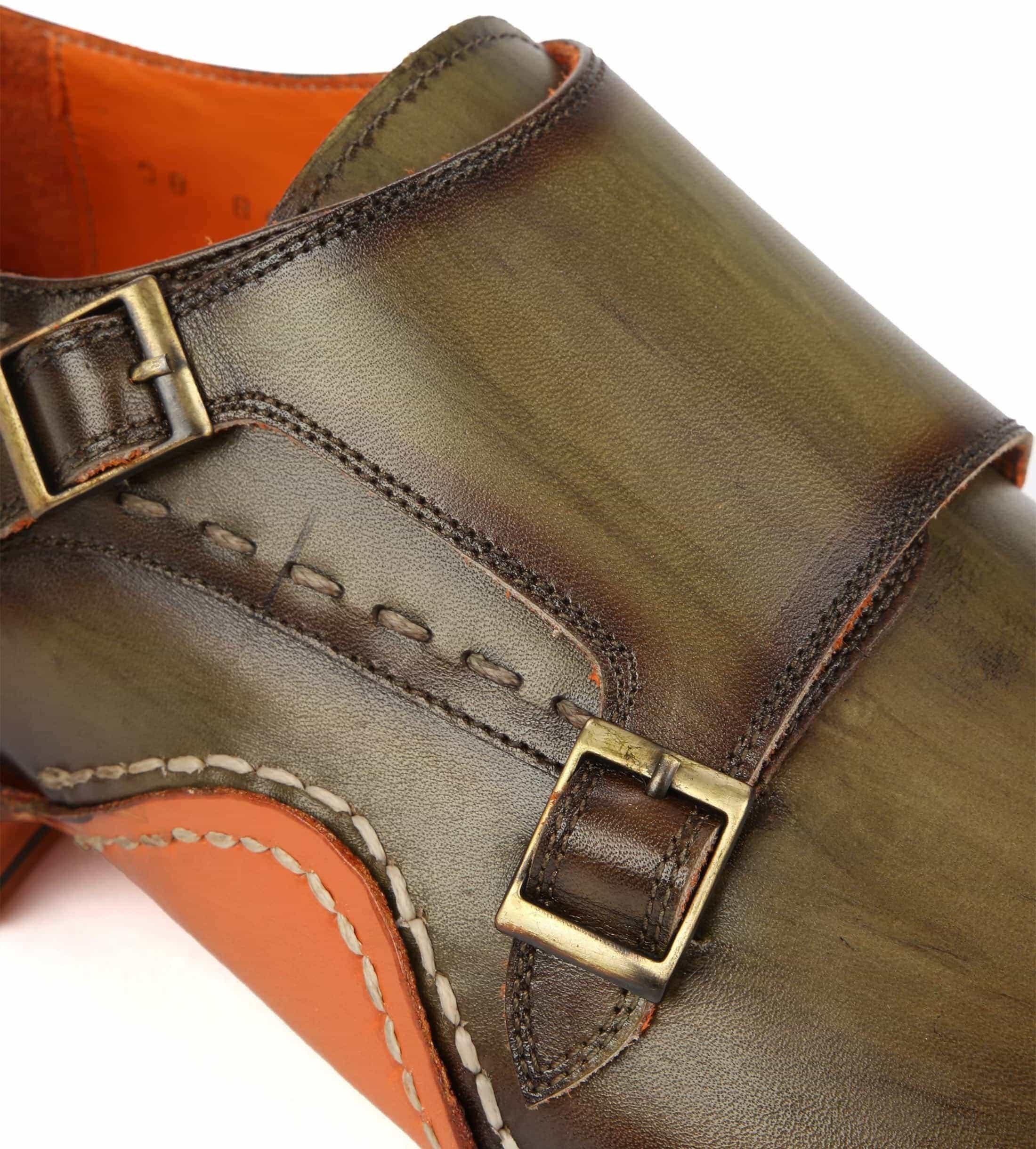 Melik Double Monk Strap Shoe Drago Green foto 1