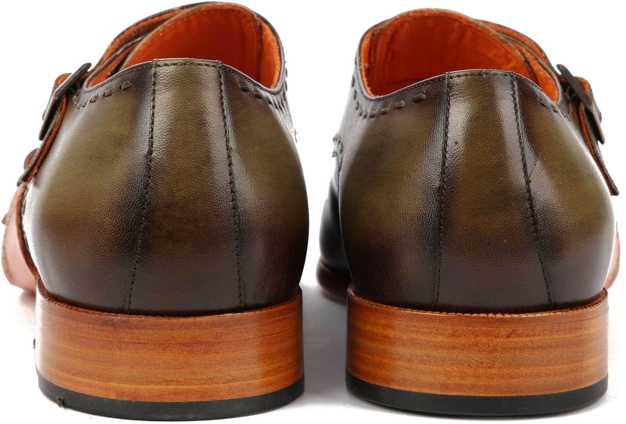 Melik Double Monk Strap Shoe Drago Green foto 3