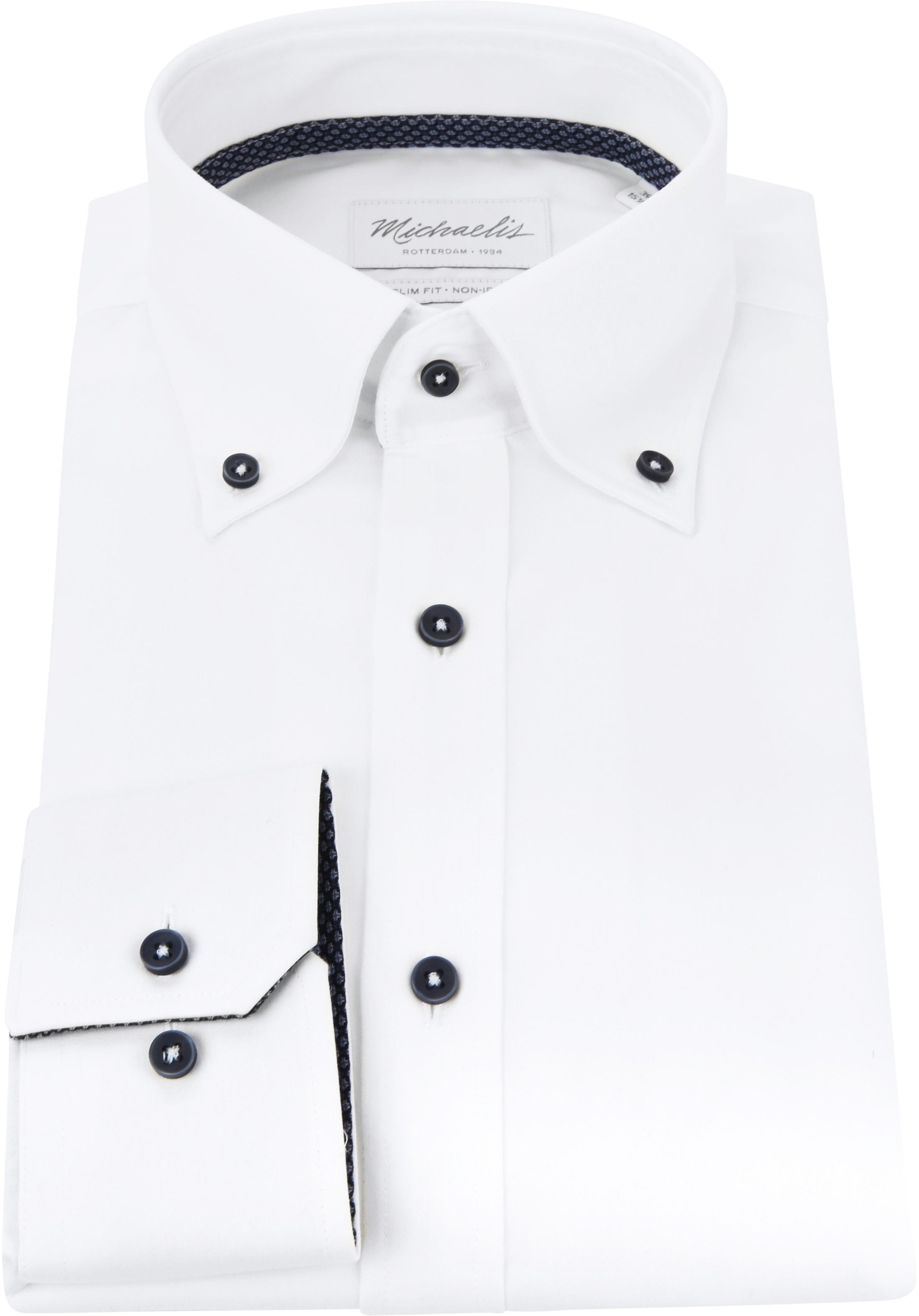 Michaelis Overhemd Button Down Wit foto 2