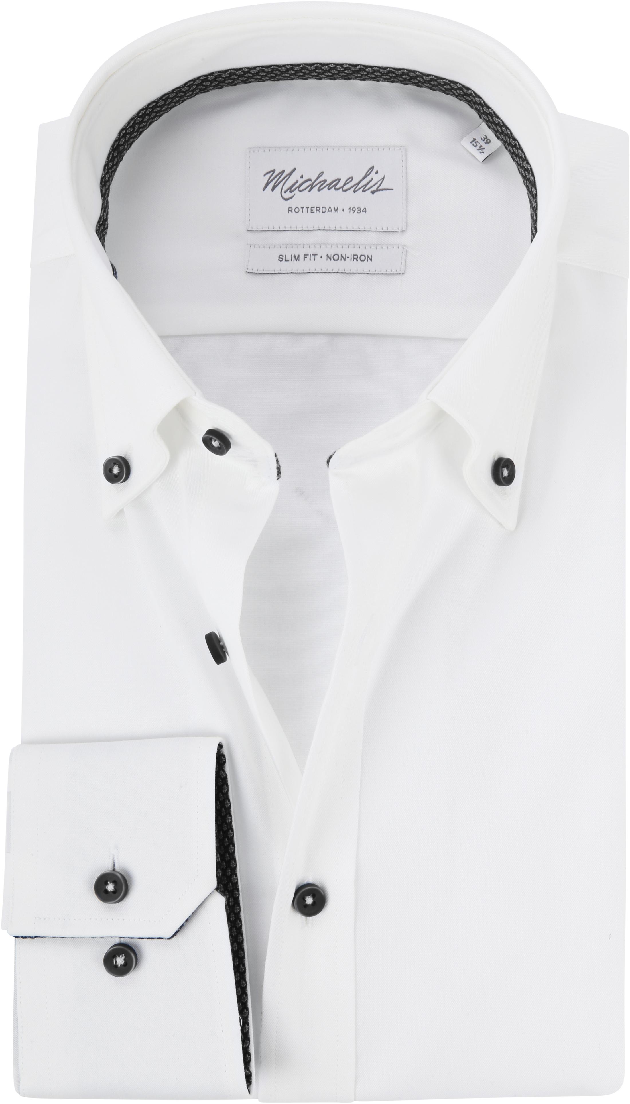 Michaelis Overhemd Button Down Wit foto 0