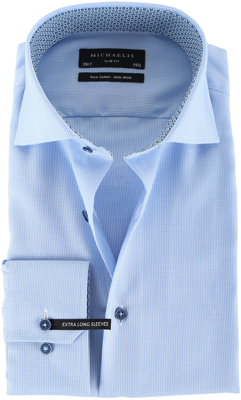 Michaelis Overhemd Dessin Blauw SL7 foto 0