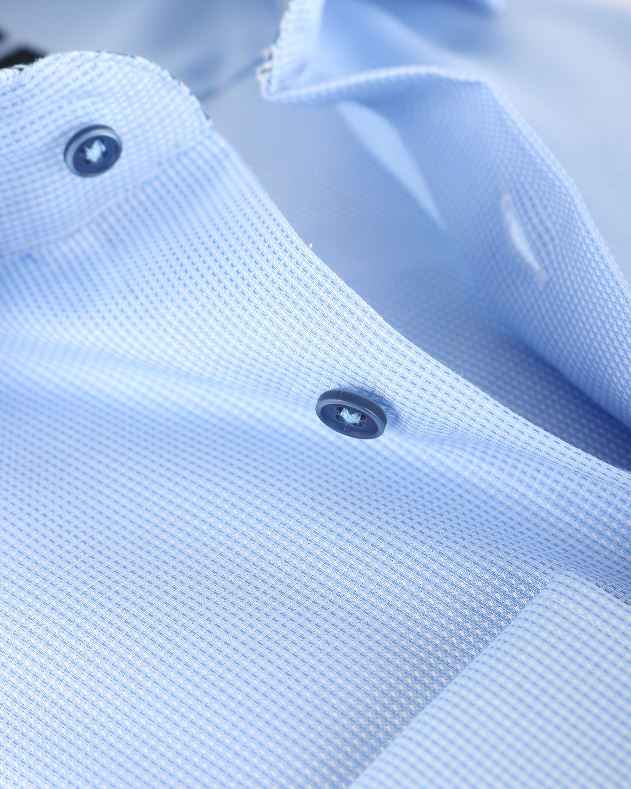 Michaelis Overhemd Dessin Blauw SL7 foto 2